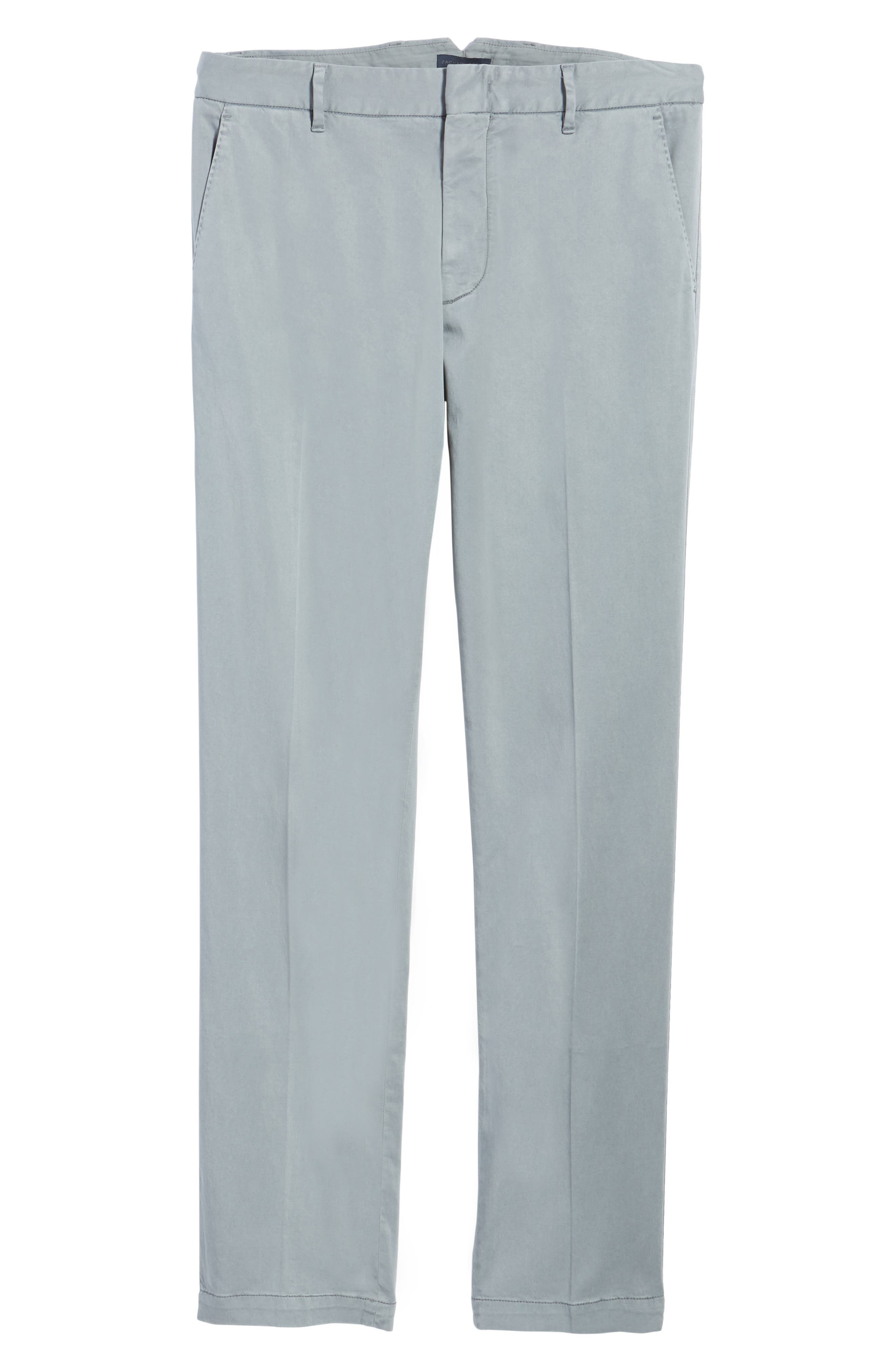 ZACHARY PRELL, Aster Straight Fit Pants, Alternate thumbnail 7, color, GREY