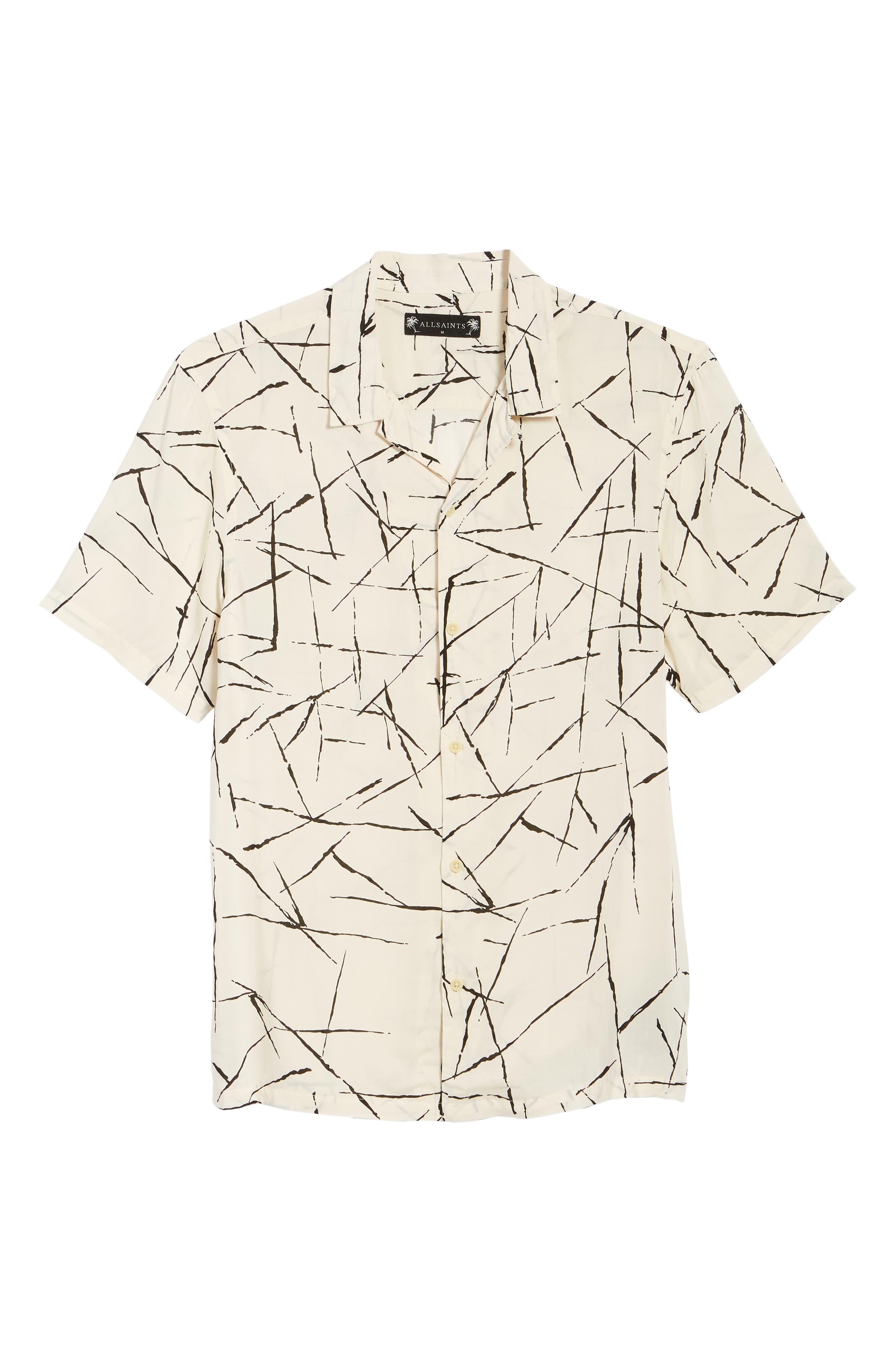 ALLSAINTS, Burma Classic Shirt, Alternate thumbnail 5, color, ECRU WHITE