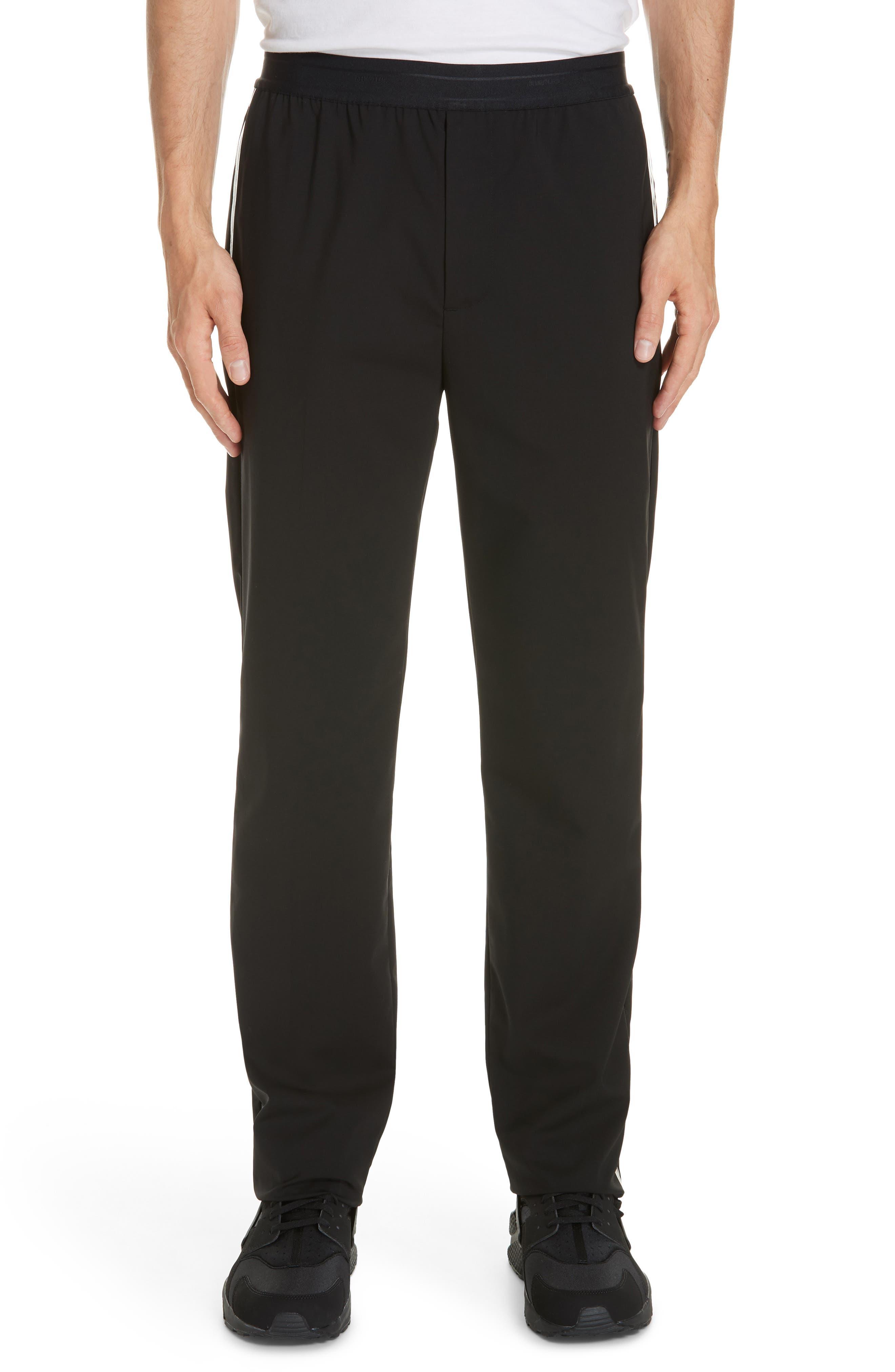 HELMUT LANG, Wool Pants, Main thumbnail 1, color, BLACK ON BLACK