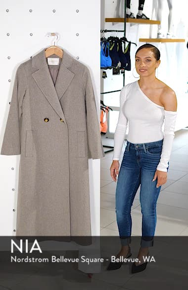 Long Double Breasted Loro Piana Wool Coat, sales video thumbnail