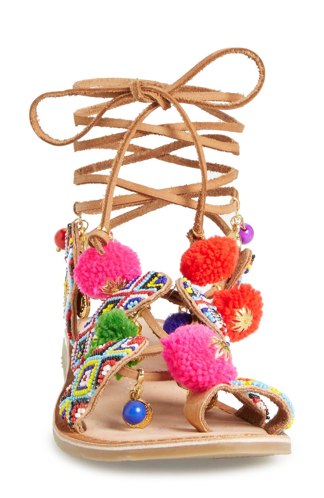 CHINESE LAUNDRY, 'Posh' Embellished Lace-Up Sandal, Alternate thumbnail 3, color, 218