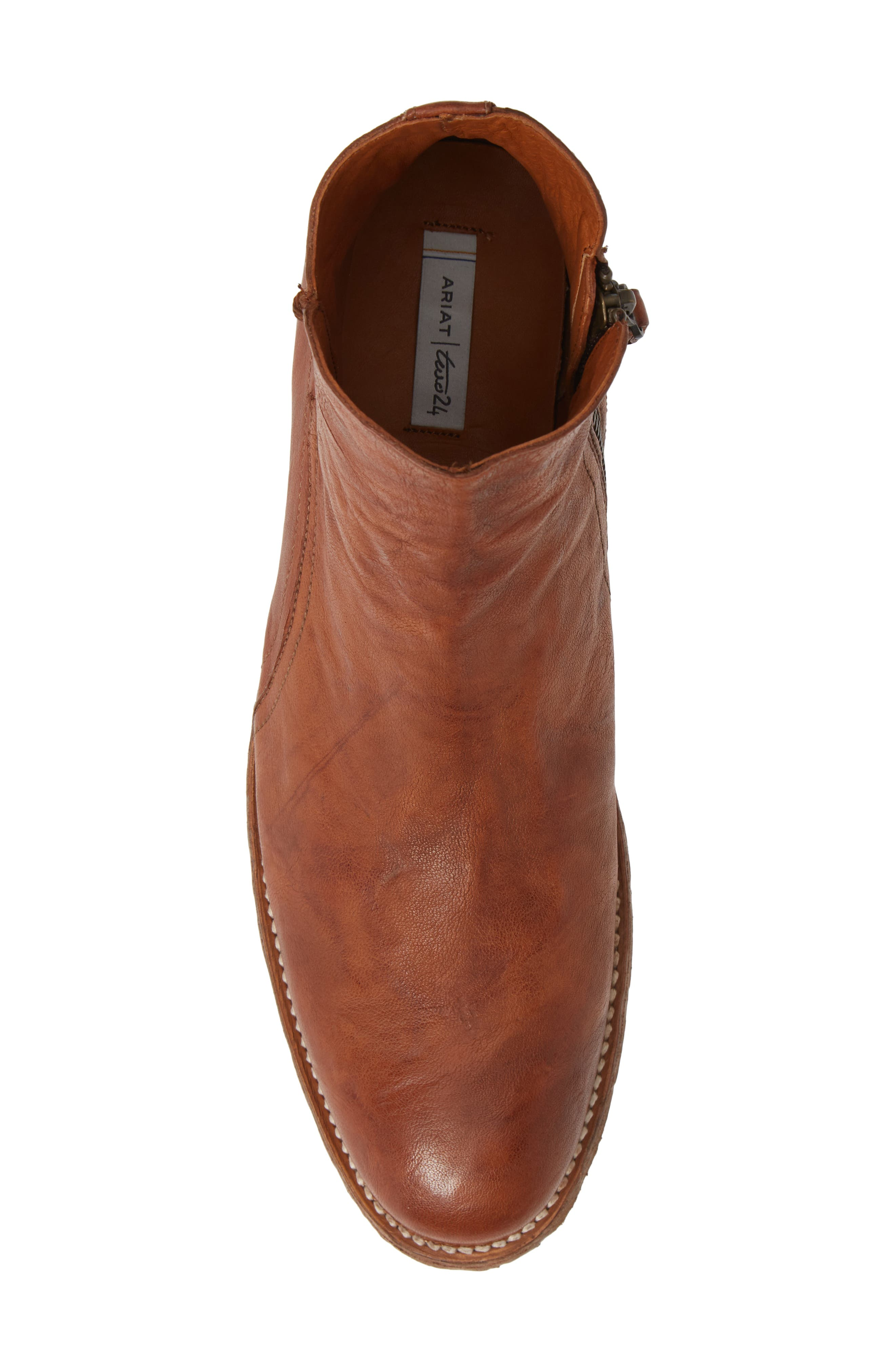 TWO24, by Ariat Lockwood Zip Boot, Alternate thumbnail 5, color, COGNAC LEATHER
