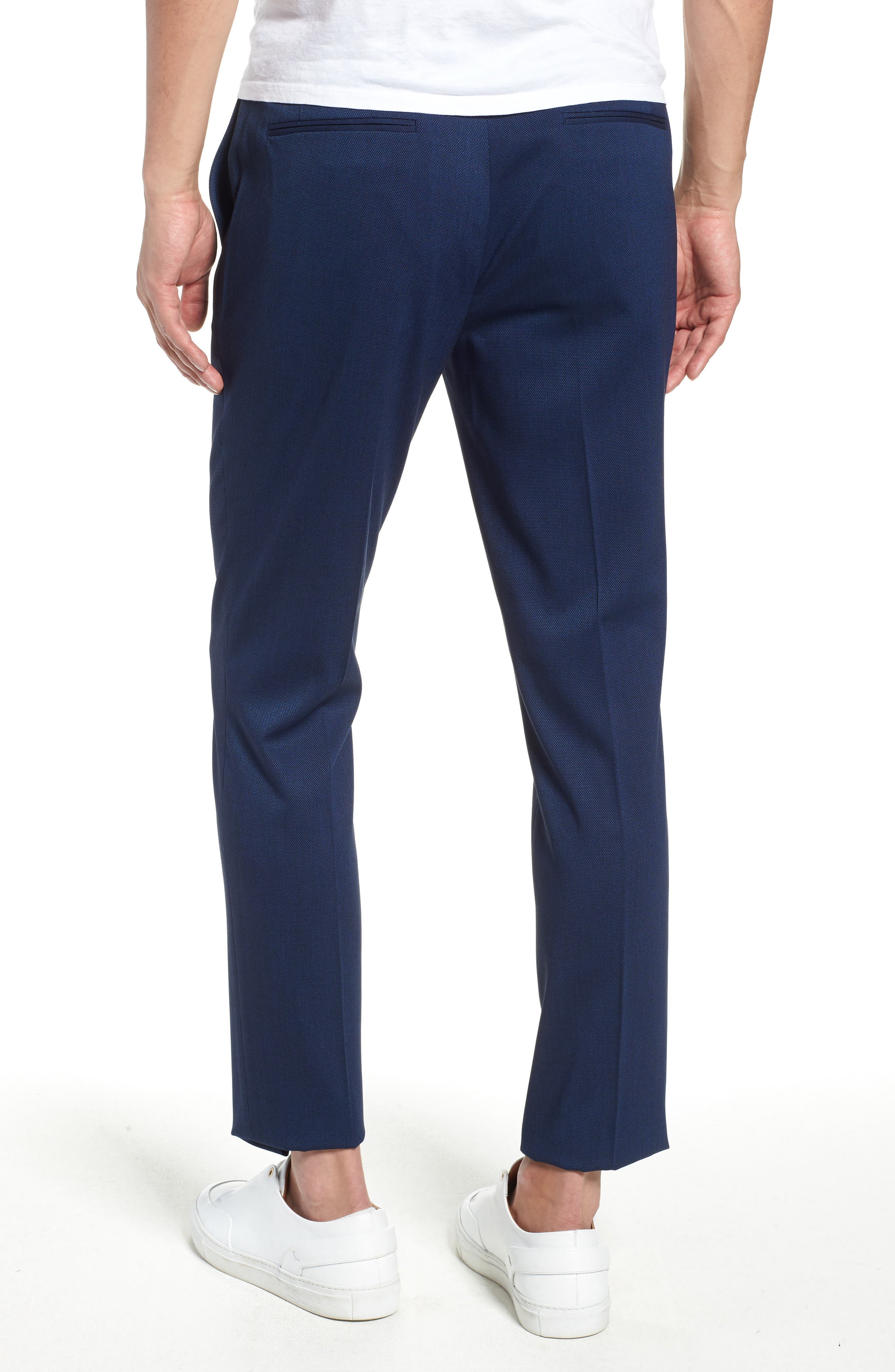 TOPMAN, Skinny Fit Suit Pants, Alternate thumbnail 2, color, MID BLUE