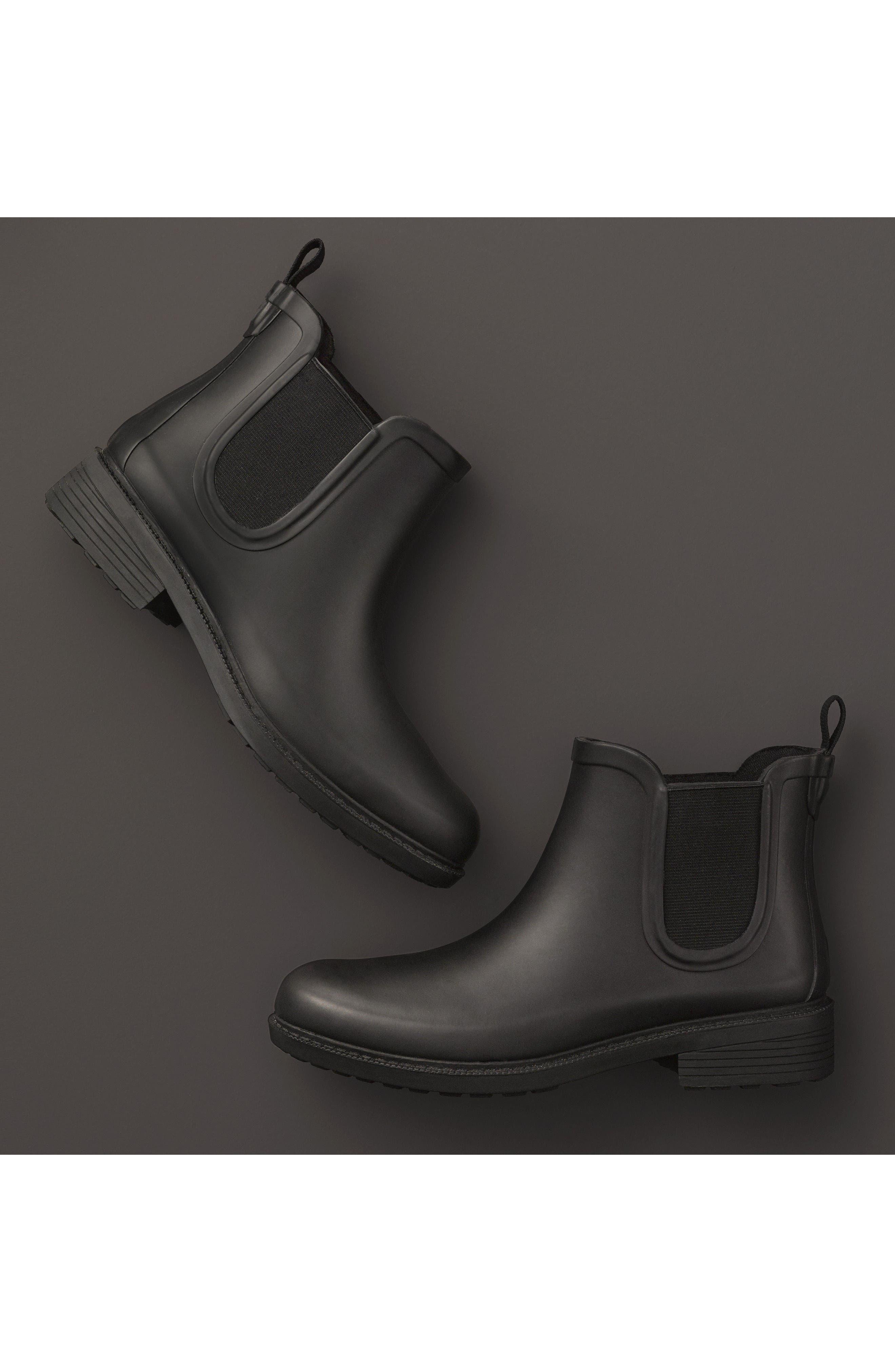 MADEWELL, The Chelsea Rain Boot, Alternate thumbnail 10, color, TRUE BLACK RUBBER