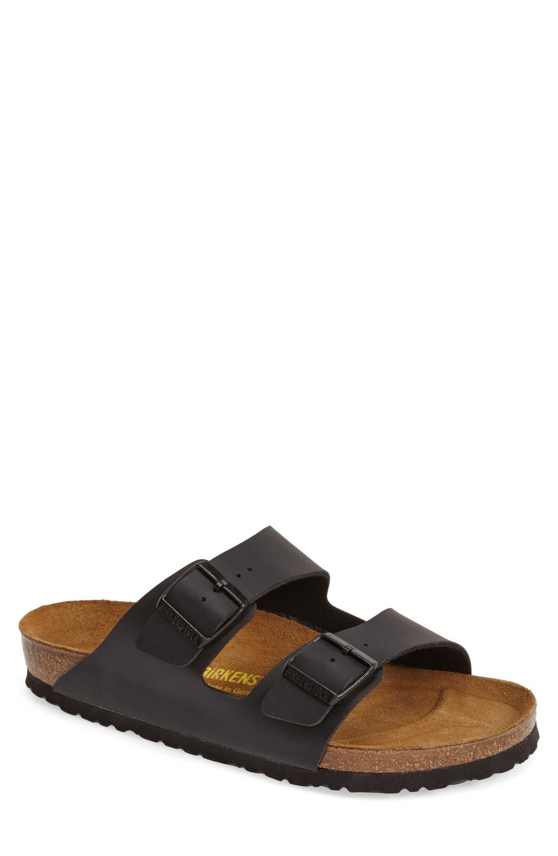 BIRKENSTOCK, 'Arizona' Slide Sandal, Main thumbnail 1, color, BLACK