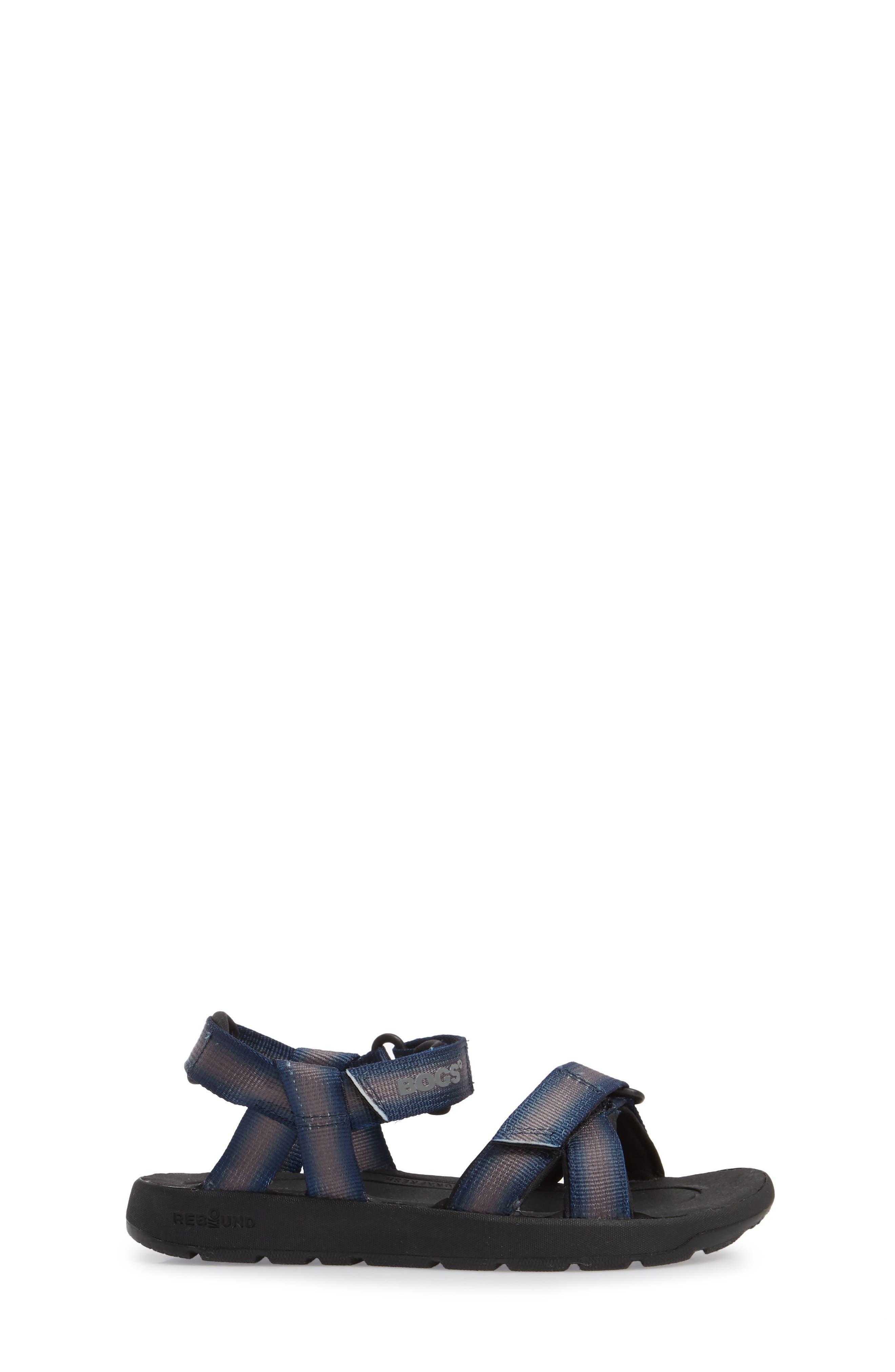BOGS, Rio Sunrise Stripe Sandal, Alternate thumbnail 3, color, 062
