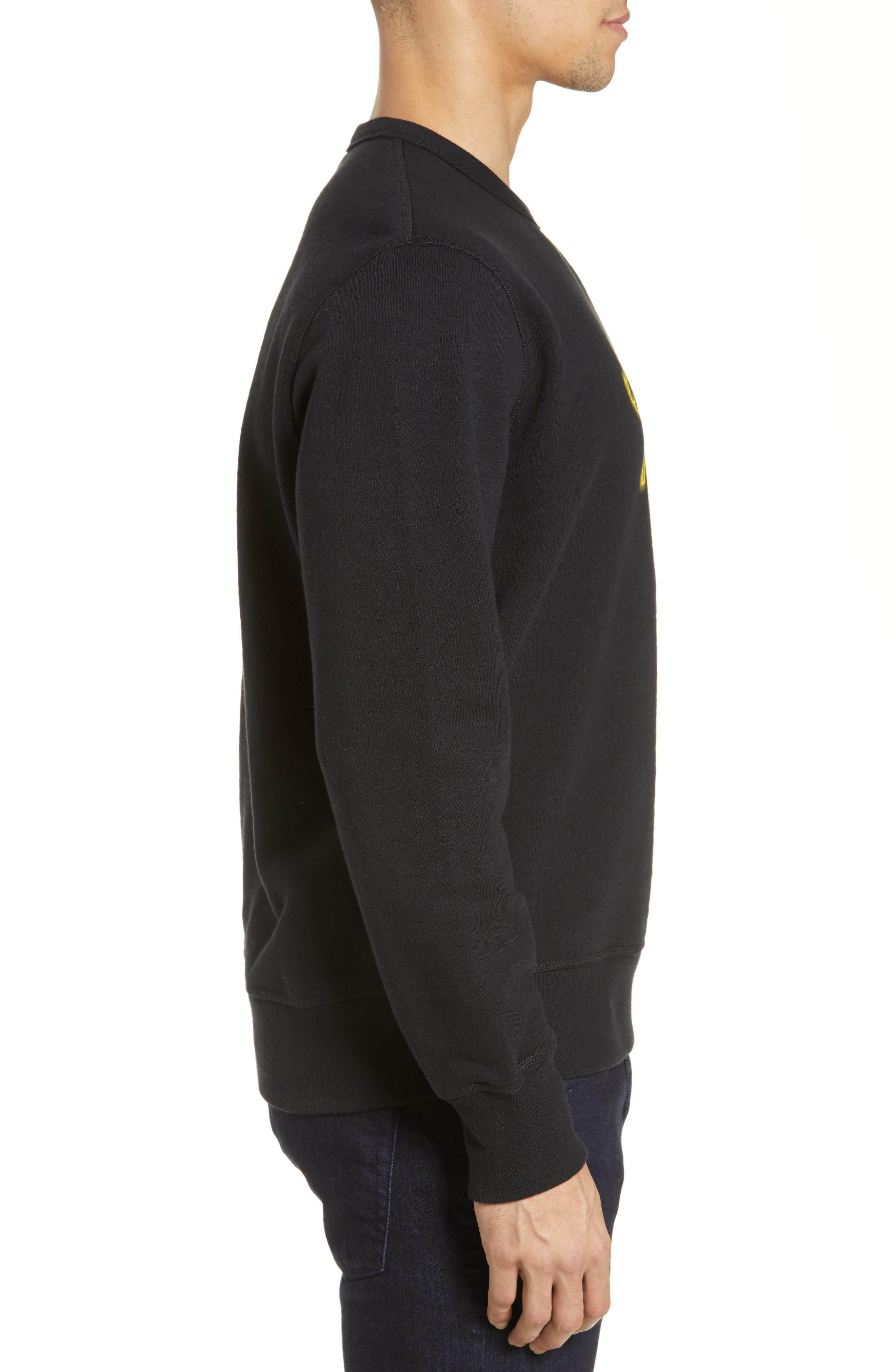 RAG & BONE, Year of the Pig Graphic Sweatshirt, Alternate thumbnail 3, color, BLACK