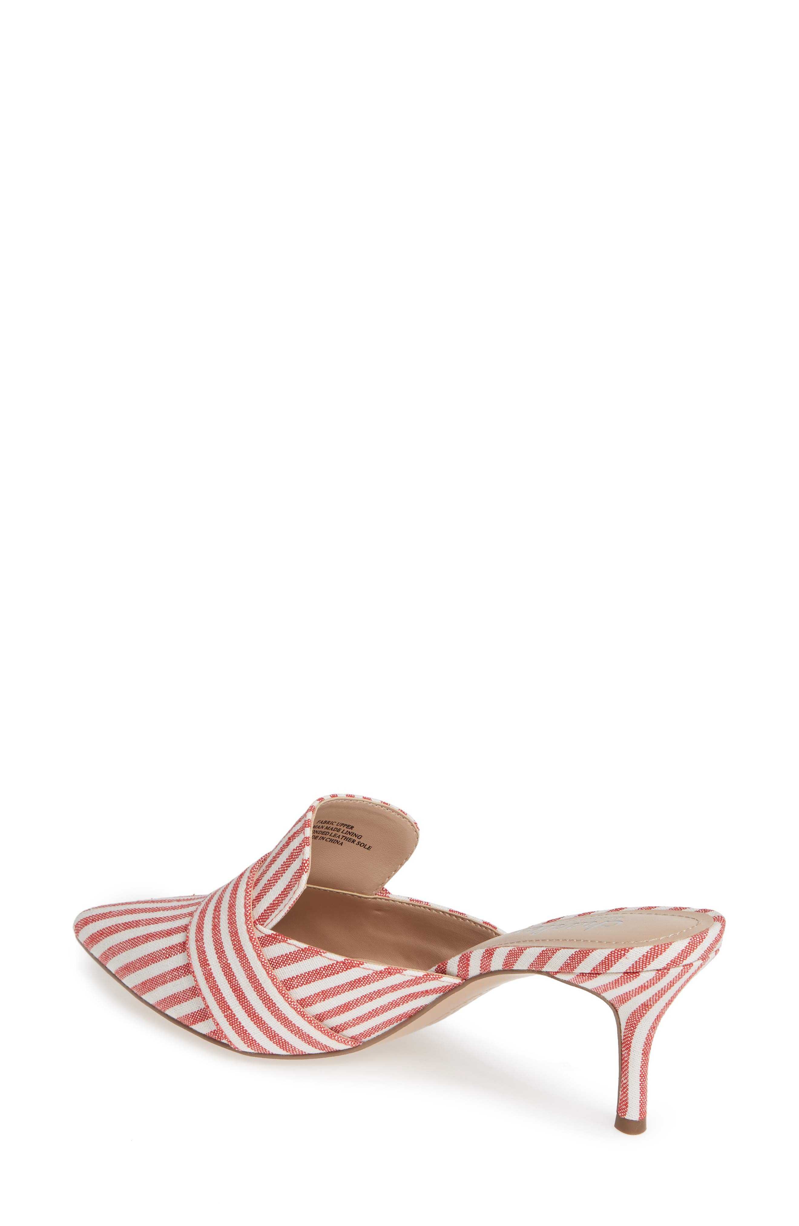 CHARLES BY CHARLES DAVID, Acapulco Mule, Alternate thumbnail 2, color, CANDY RED FABRIC
