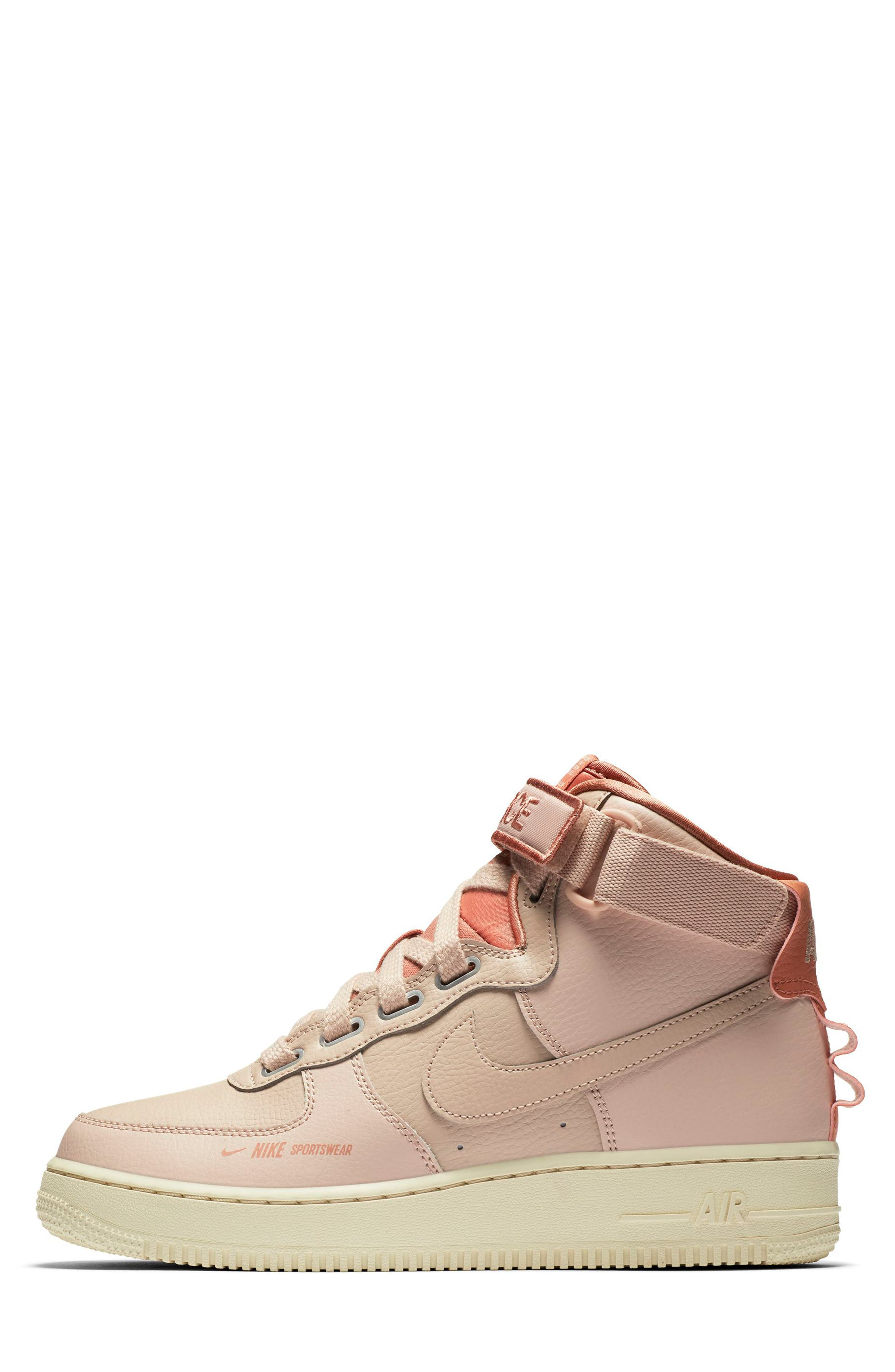 NIKE, Air Force 1 High Utility Sneaker, Alternate thumbnail 3, color, 200