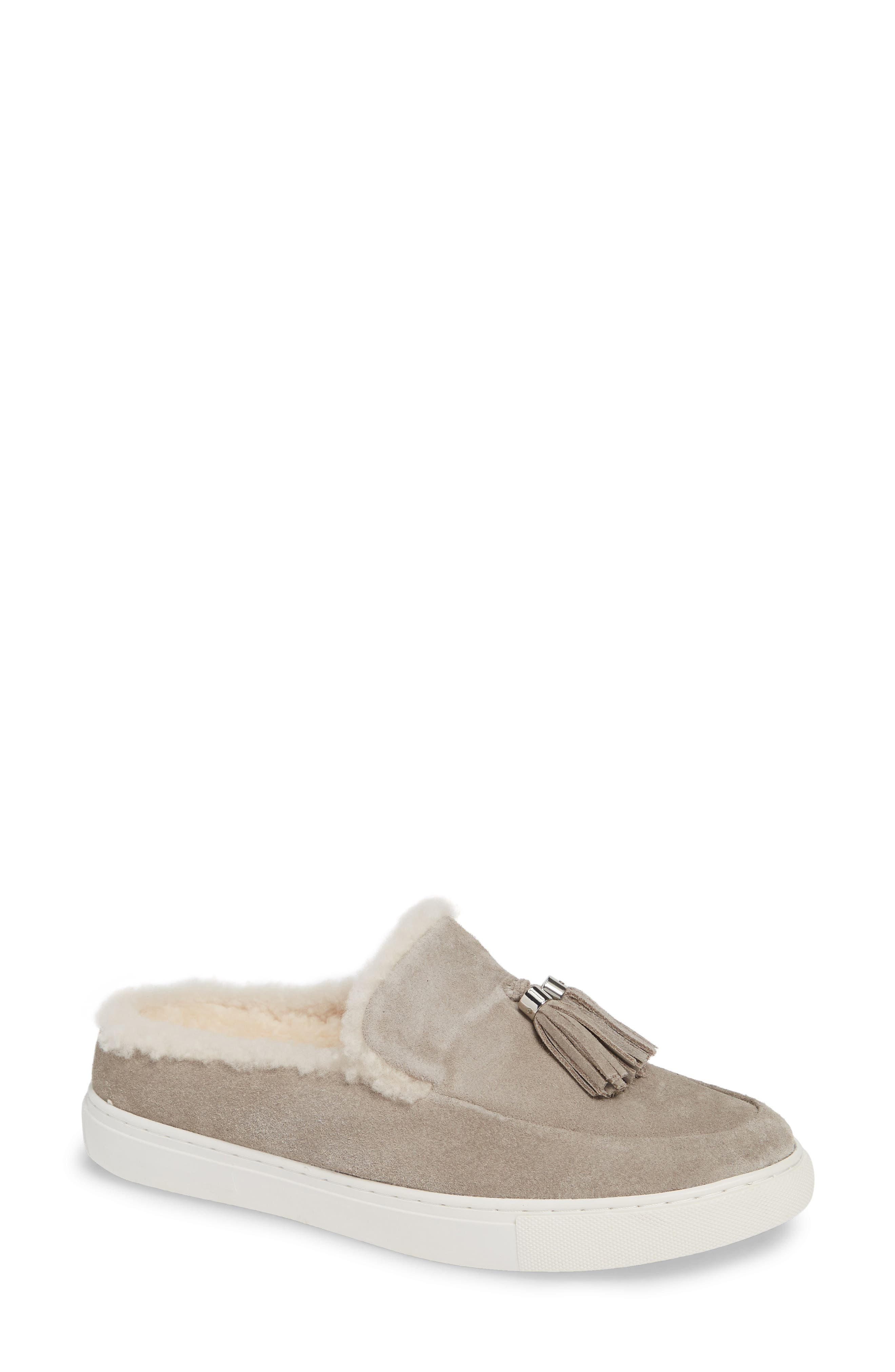 GENTLE SOULS BY KENNETH COLE, Rory Loafer Mule, Main thumbnail 1, color, STONE NUBUCK LEATHER