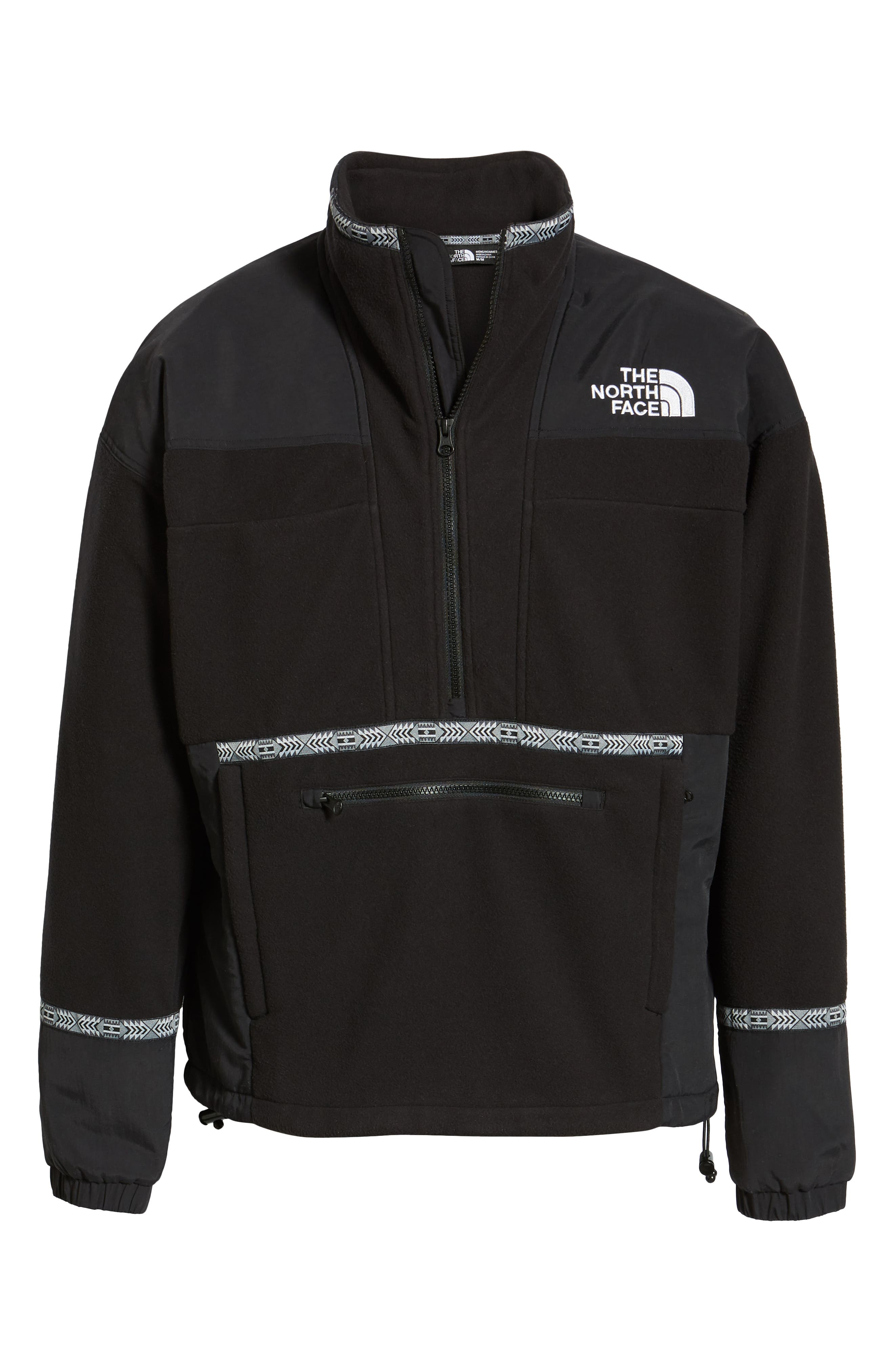 THE NORTH FACE, 1992 Rage Collection Fleece Anorak, Alternate thumbnail 7, color, 001