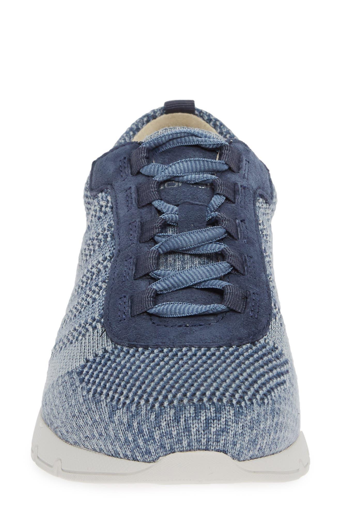 DANSKO, Adrianne Sneaker, Alternate thumbnail 4, color, DENIM