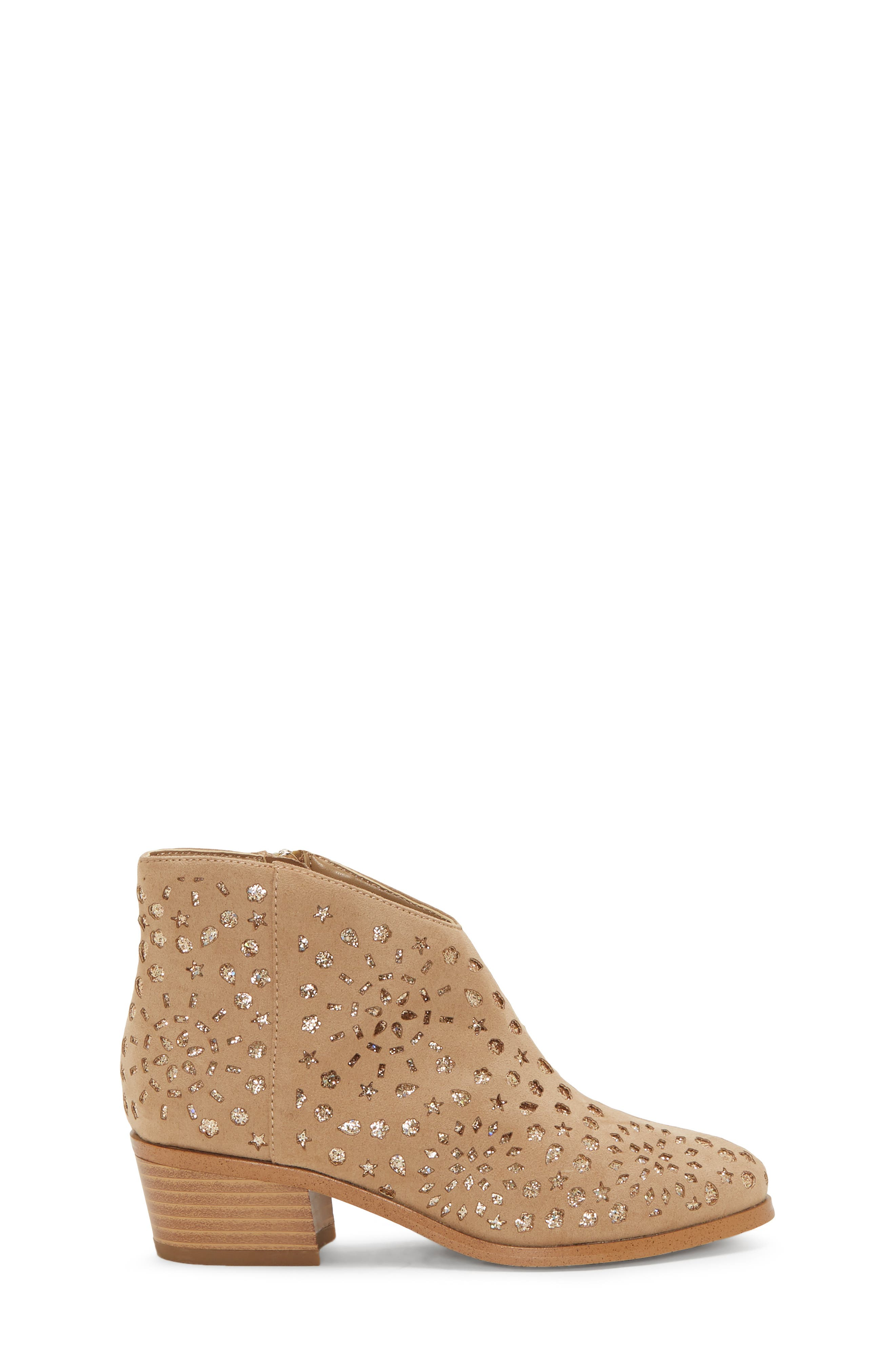 VINCE CAMUTO, Perforated Glitter Boot, Alternate thumbnail 3, color, 718
