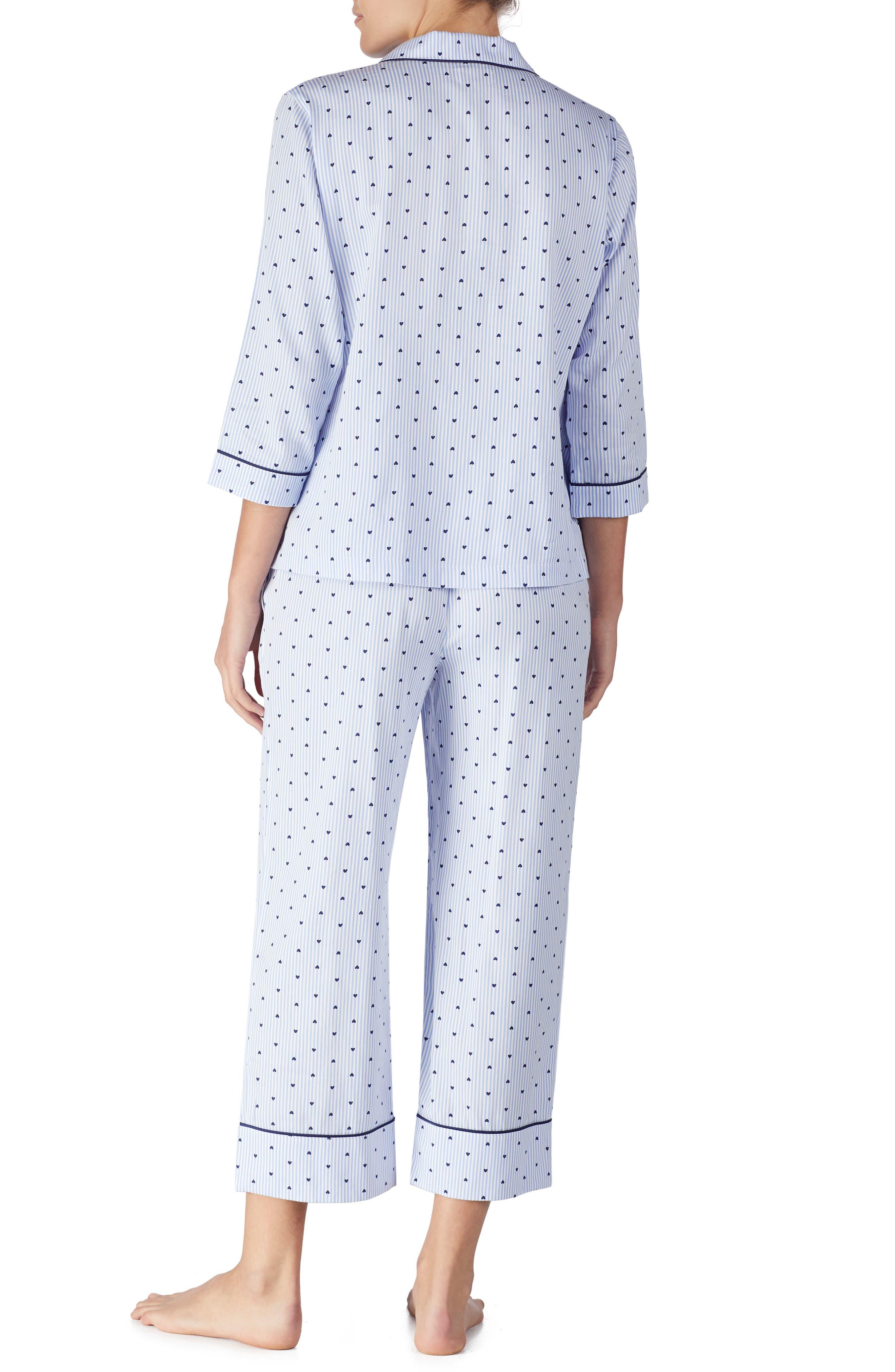 KATE SPADE NEW YORK, print pajamas, Alternate thumbnail 2, color, MINI HEART