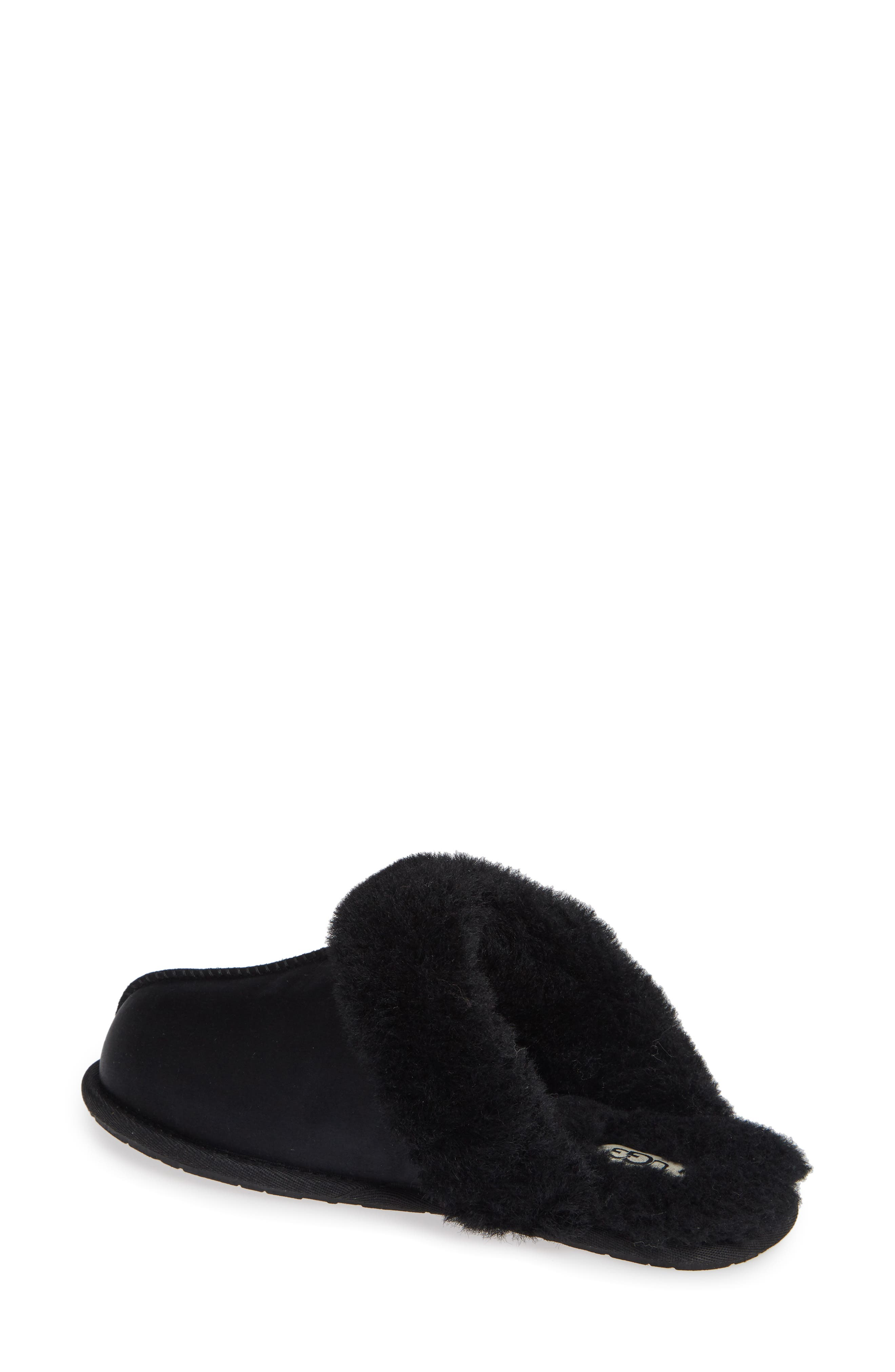 UGG<SUP>®</SUP>, Scuffette II Satin Slipper, Alternate thumbnail 2, color, 001