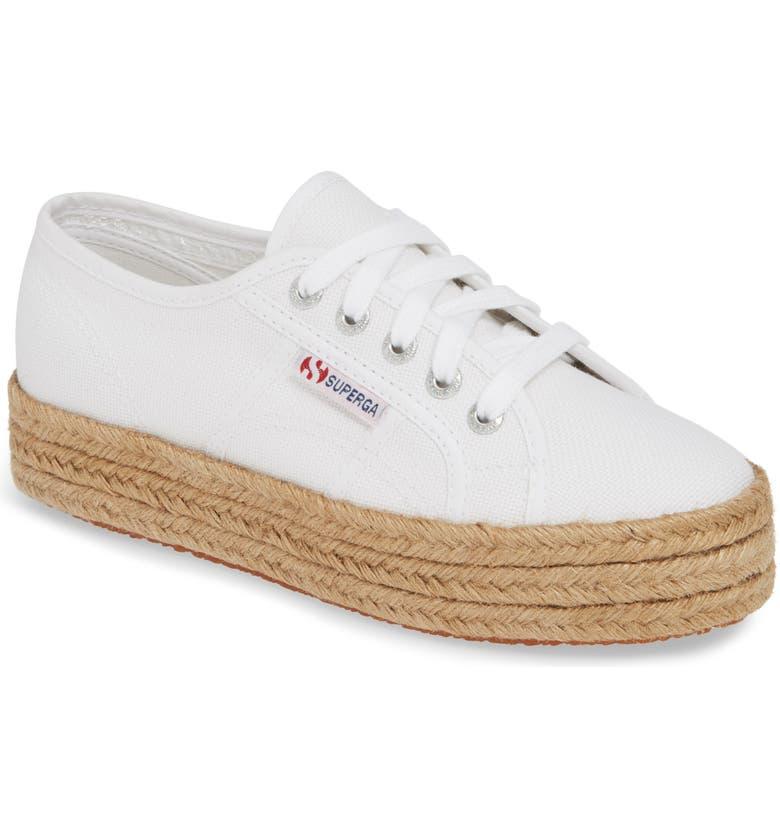 SUPERGA 2730 Cotropew Espadrille Platform Sneaker, Main, color, WHITE