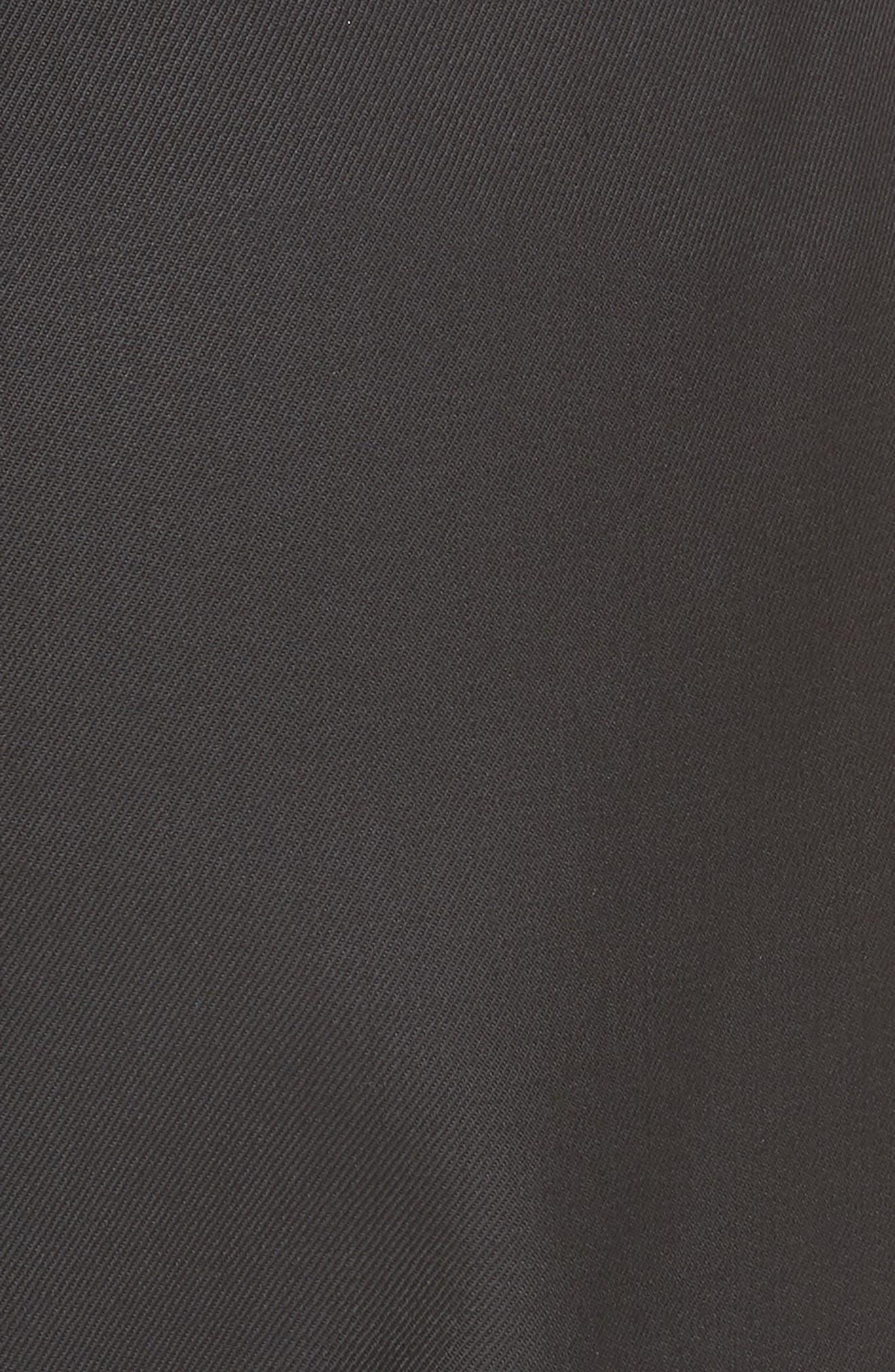 NILI LOTAN, Bertina Pleated Wool Crop Pants, Alternate thumbnail 6, color, BLACK