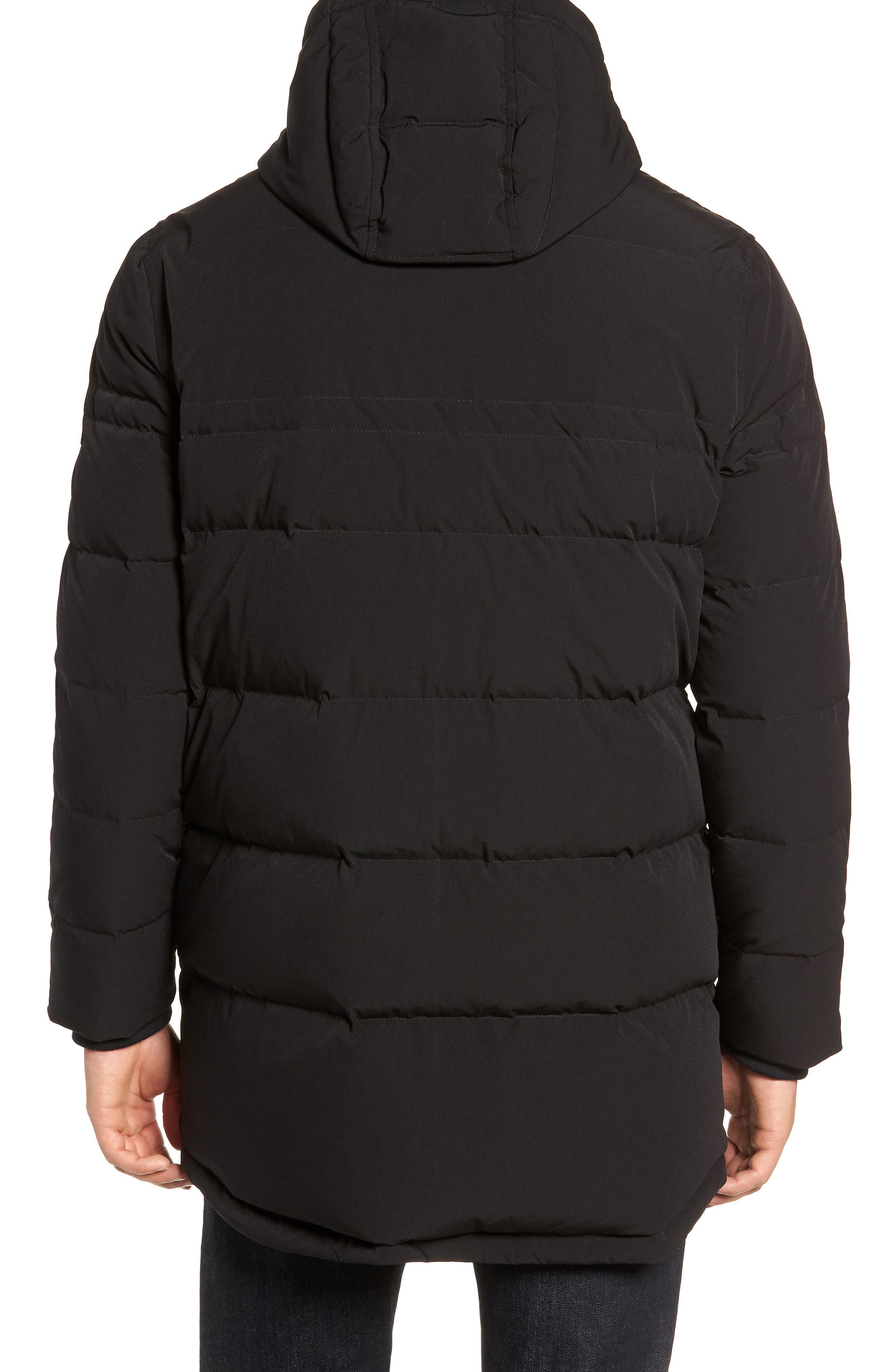 MARC NEW YORK, Holden Down & Feather Parka, Alternate thumbnail 2, color, BLACK