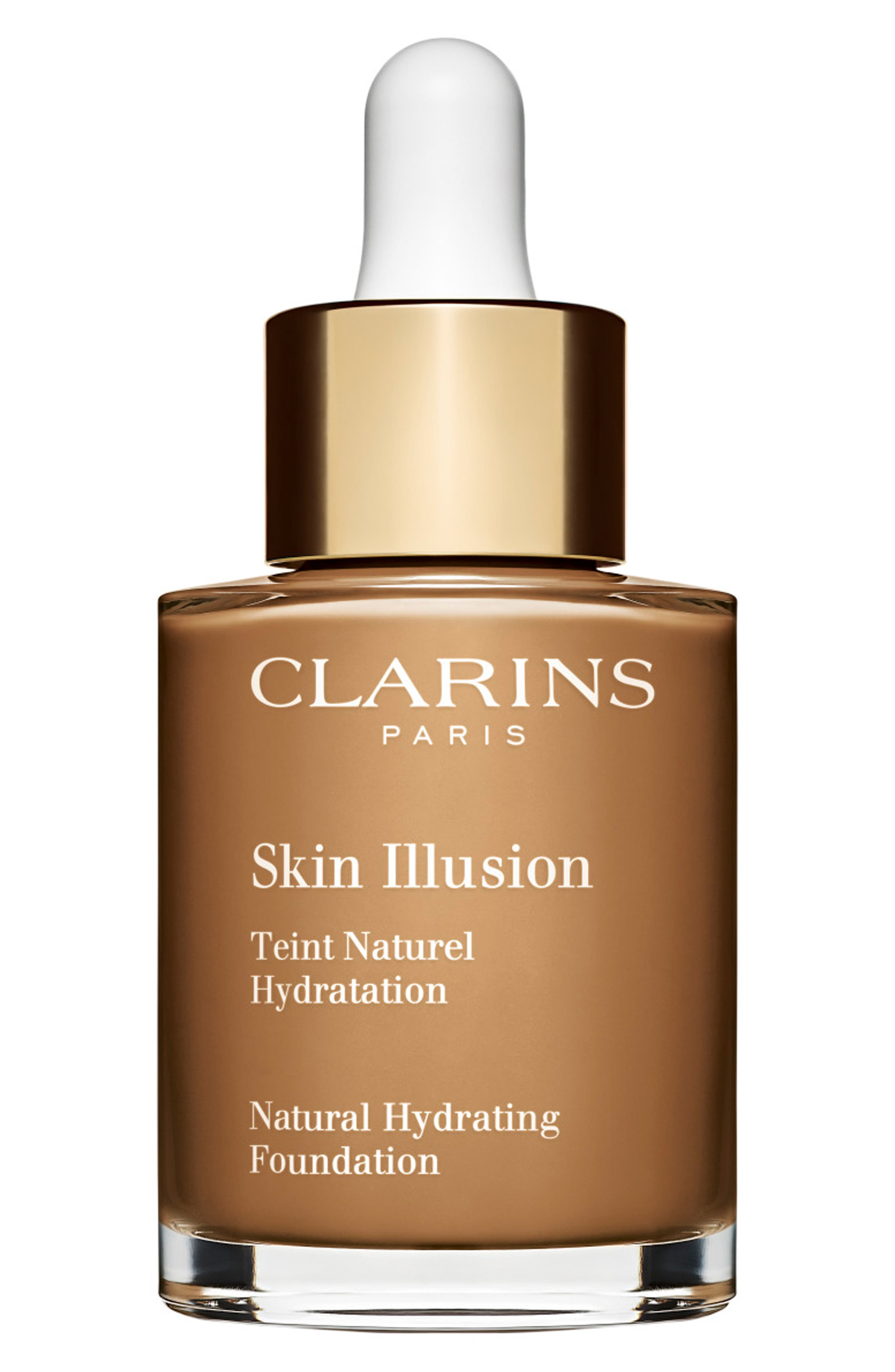 CLARINS, Skin Illusion Natural Hydrating Foundation, Main thumbnail 1, color, 116.5 - COFFEE