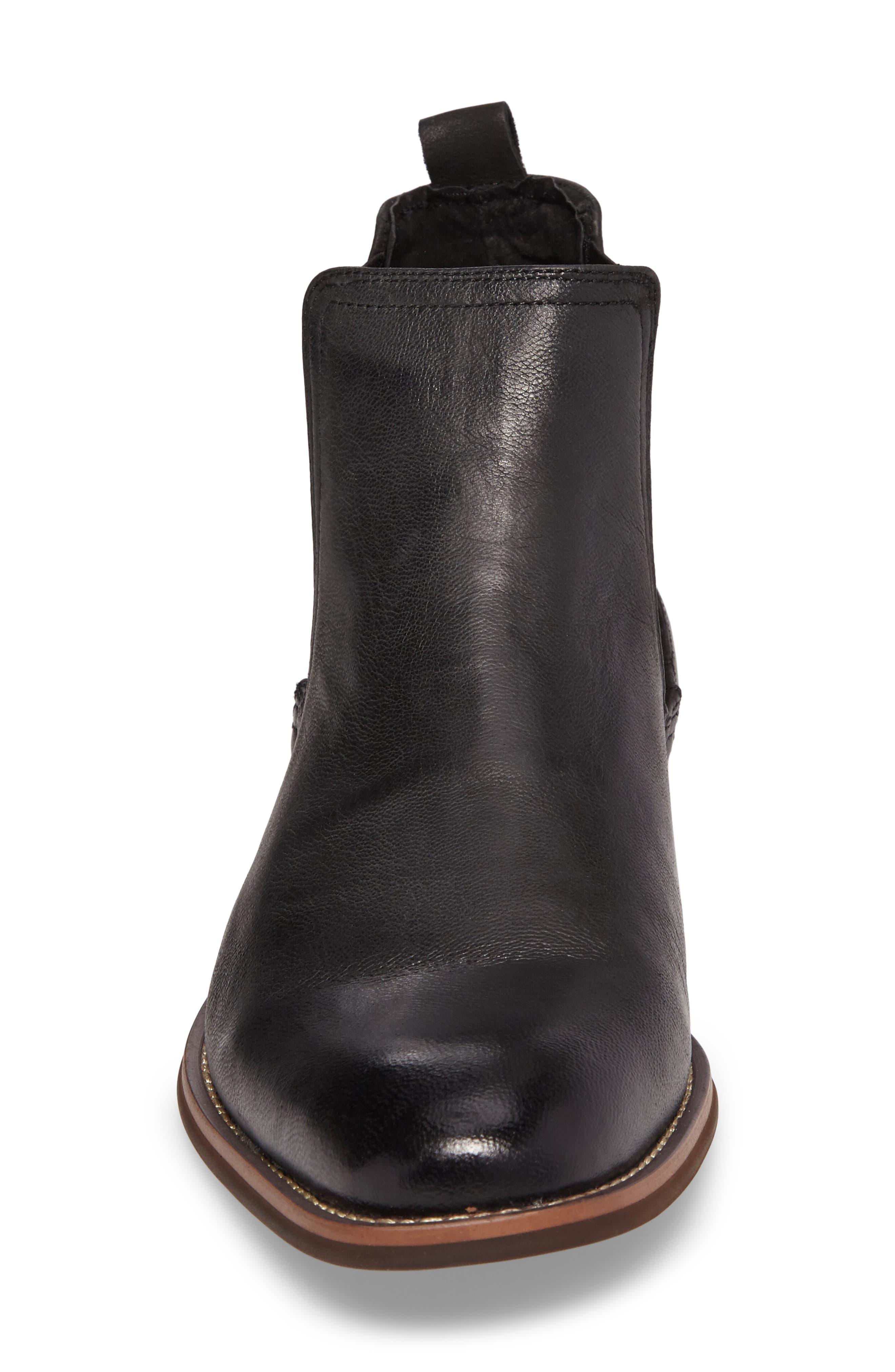 JUMP, Lawson Chelsea Boot, Alternate thumbnail 4, color, BLACK