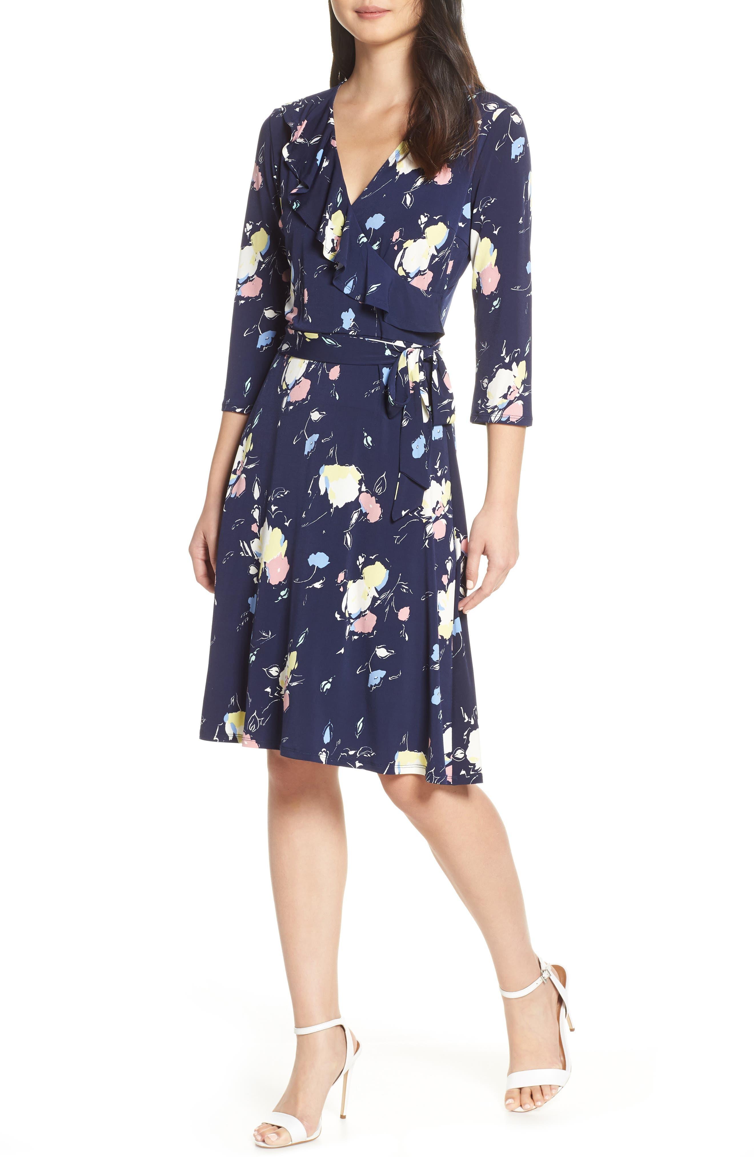 Leota Felicity Wrap Dress, Blue
