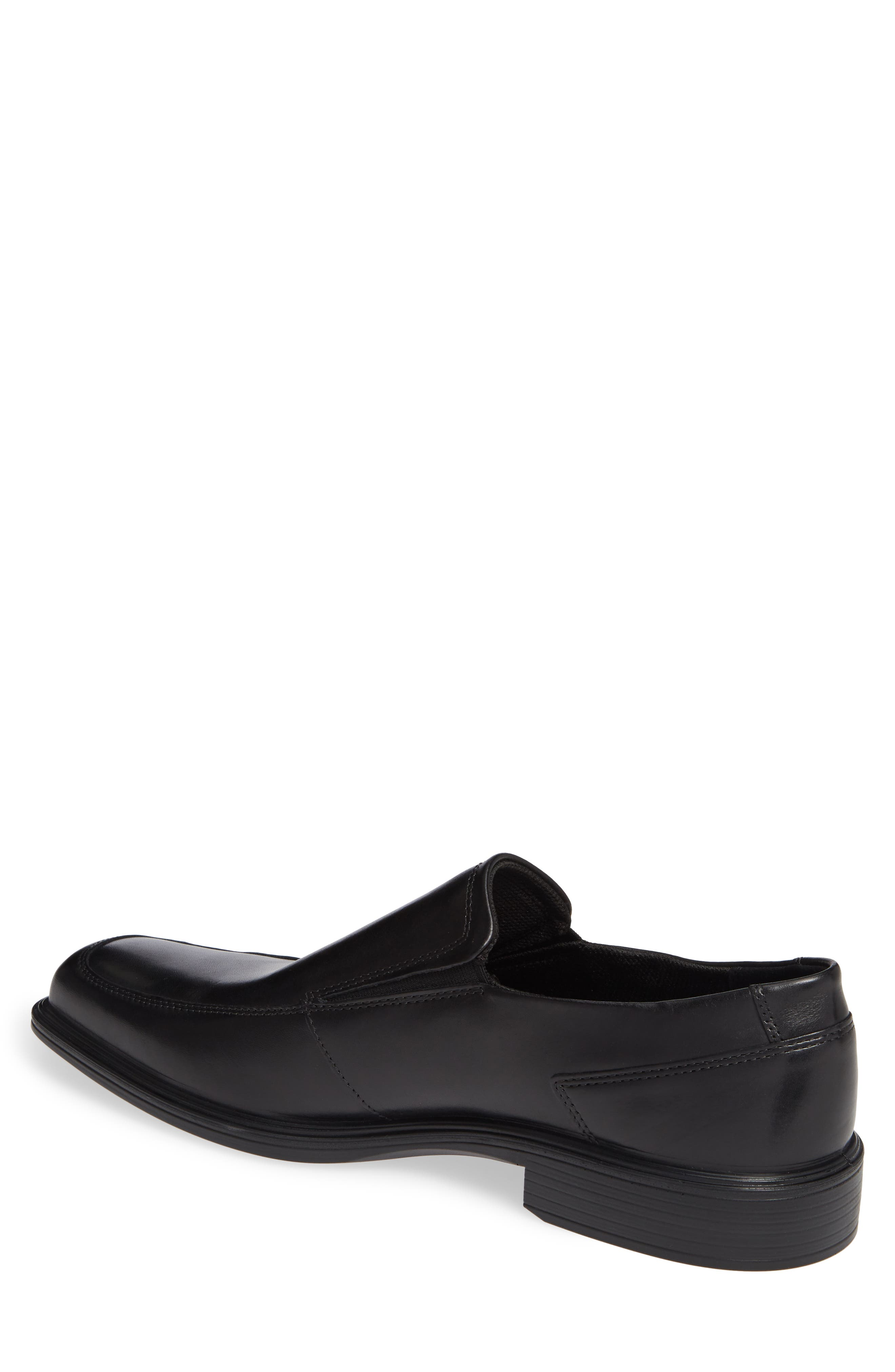 ECCO, Minneapolis Venetian Loafer, Alternate thumbnail 2, color, BLACK/BLACK LEATHER