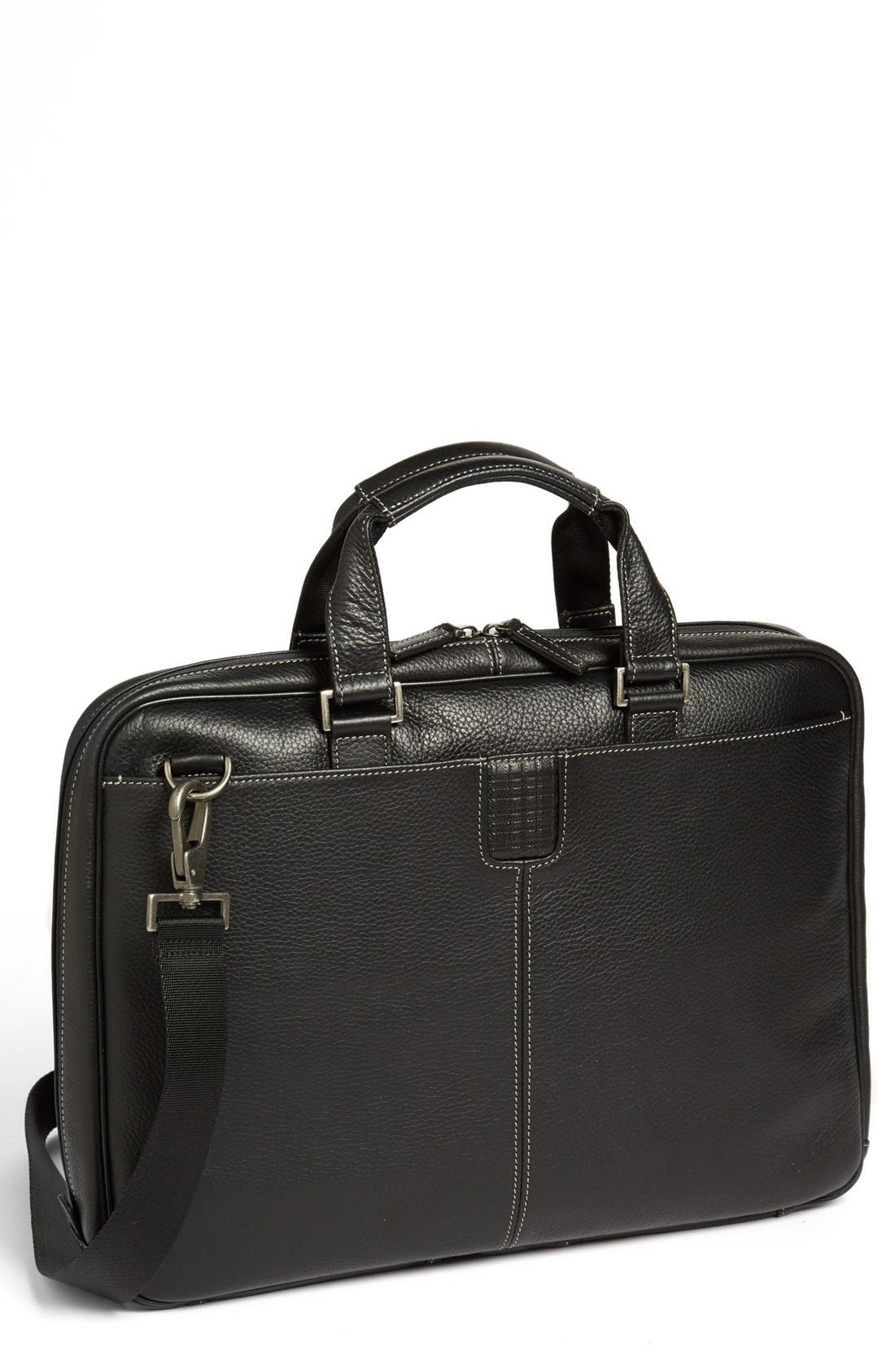 BOCONI 'Tyler' Briefcase, Main, color, BLACK