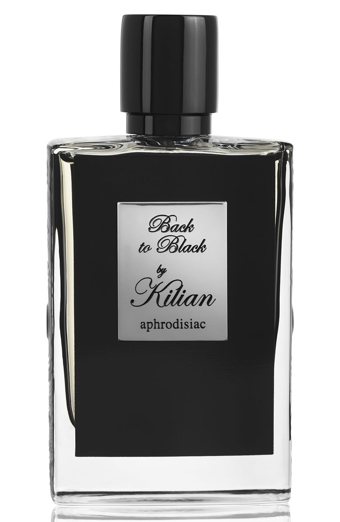 KILIAN, LOeuvre Noire - Back to Black, aphrodisiac Refillable Fragrance Spray, Main thumbnail 1, color, NO COLOR