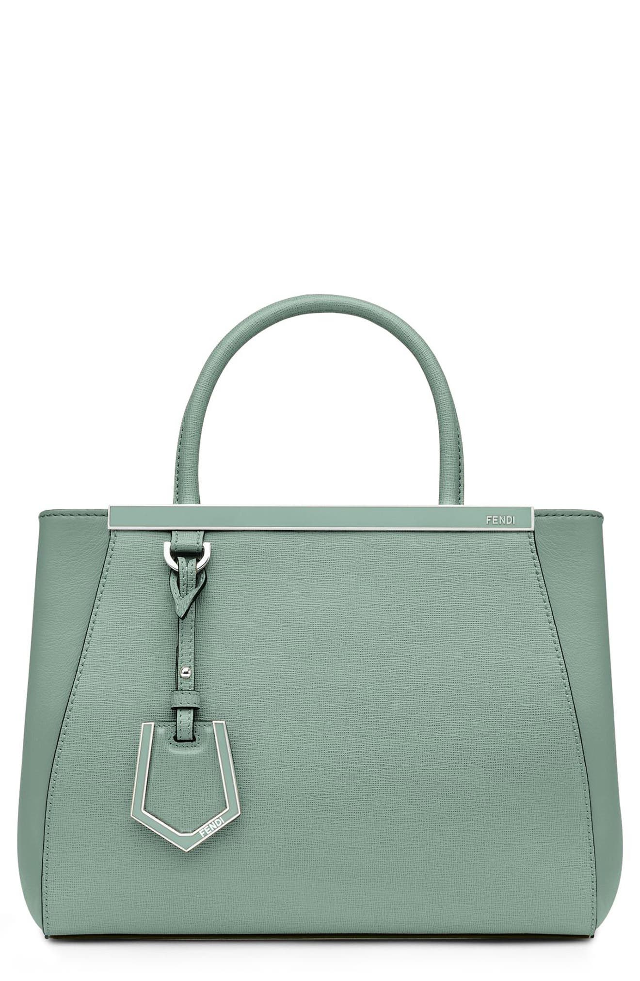 FENDI, 'Petite 2Jours Elite' Leather Shopper, Alternate thumbnail 2, color, 439