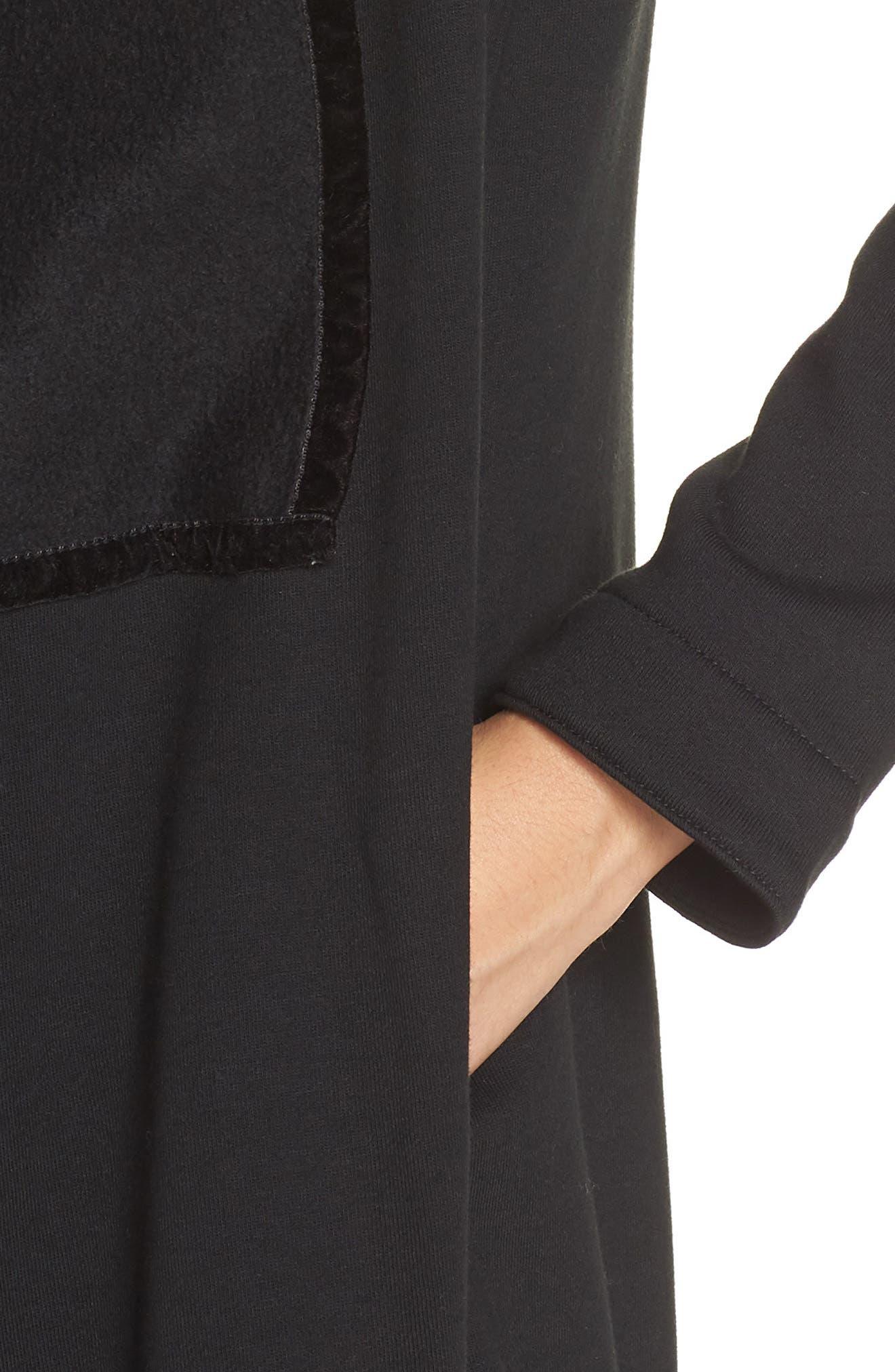 UGG<SUP>®</SUP>, Janni Fleece Cardigan, Alternate thumbnail 4, color, BLACK