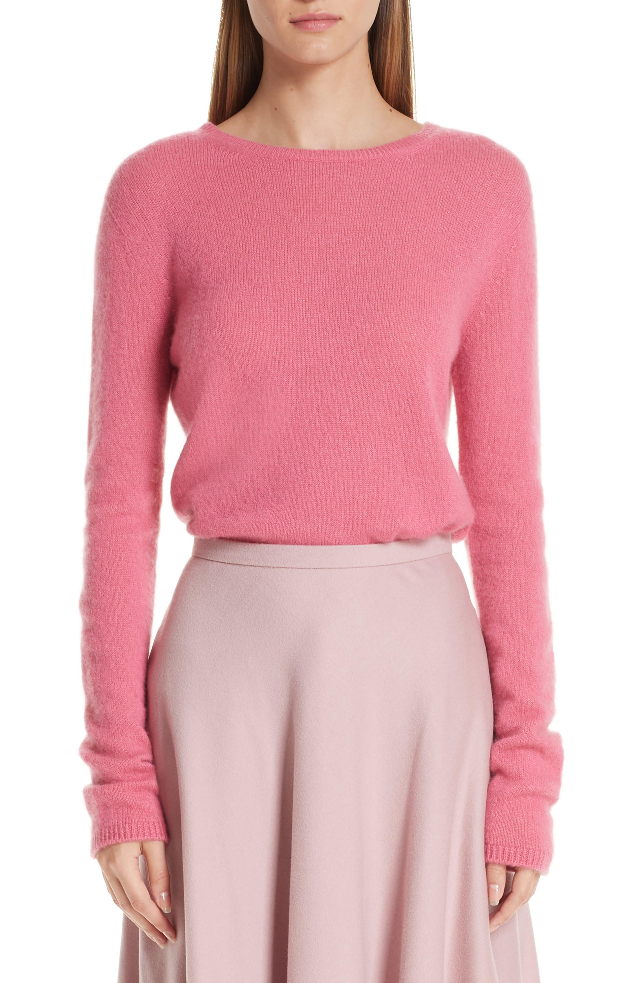 MAX MARA, Stelvio Cashmere & Silk Sweater, Main thumbnail 1, color, 672