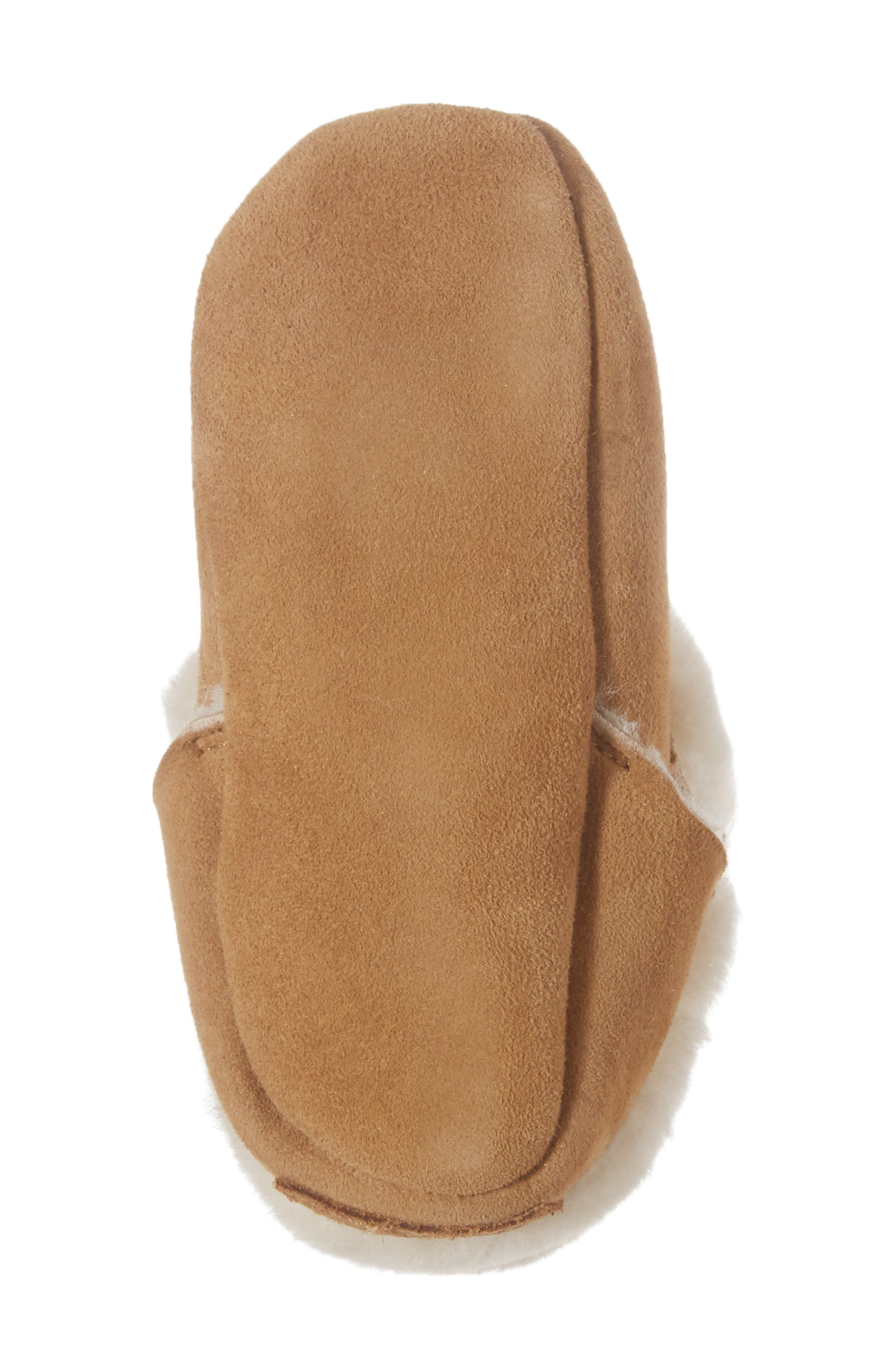 UGG<SUP>®</SUP>, Solvi Genuine Shearling Low Cuffed Bootie, Alternate thumbnail 6, color, CHESTNUT