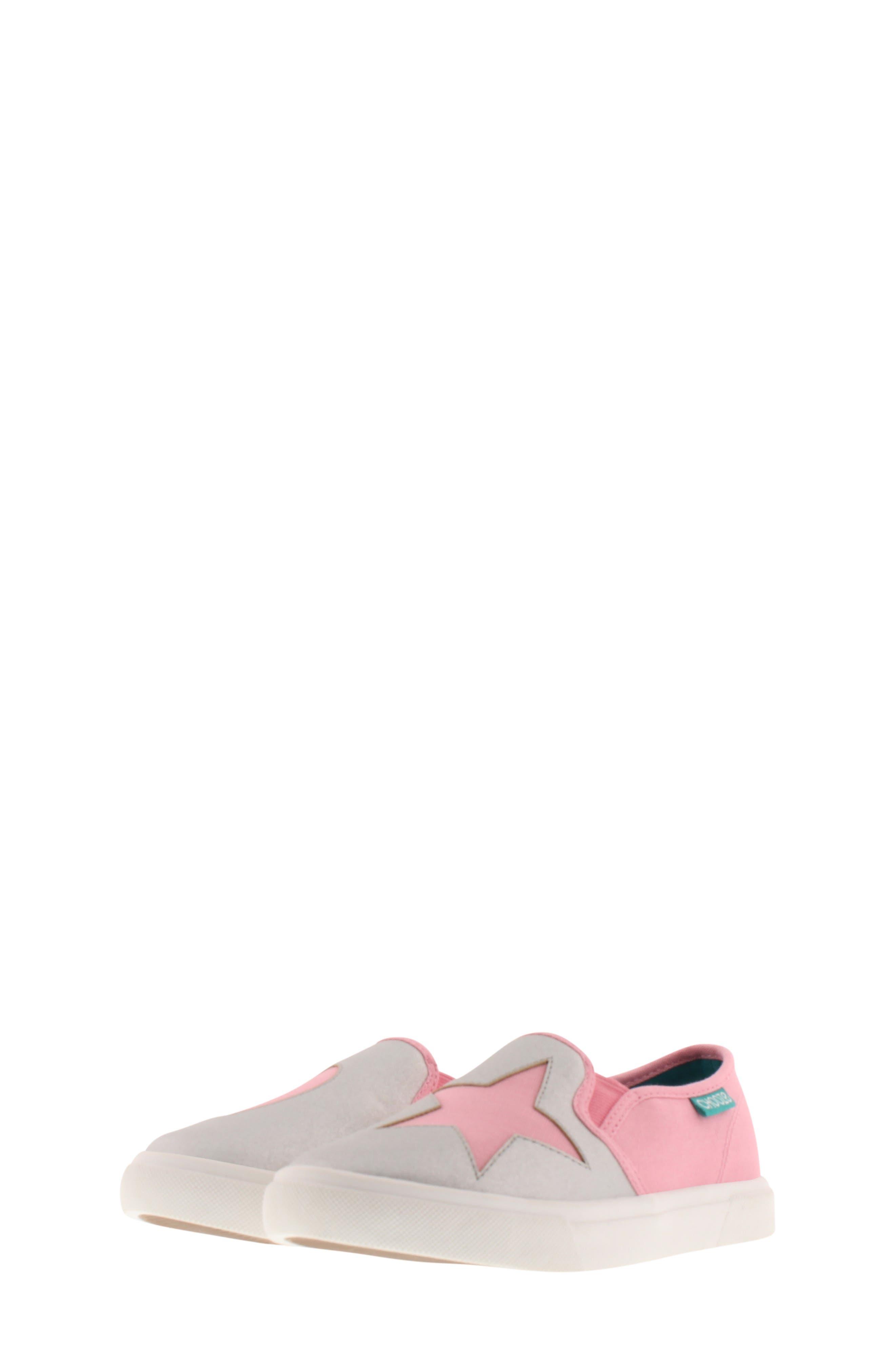 CHOOZE, Little Choice Starheart Slip-On Sneaker, Alternate thumbnail 9, color, SILVER