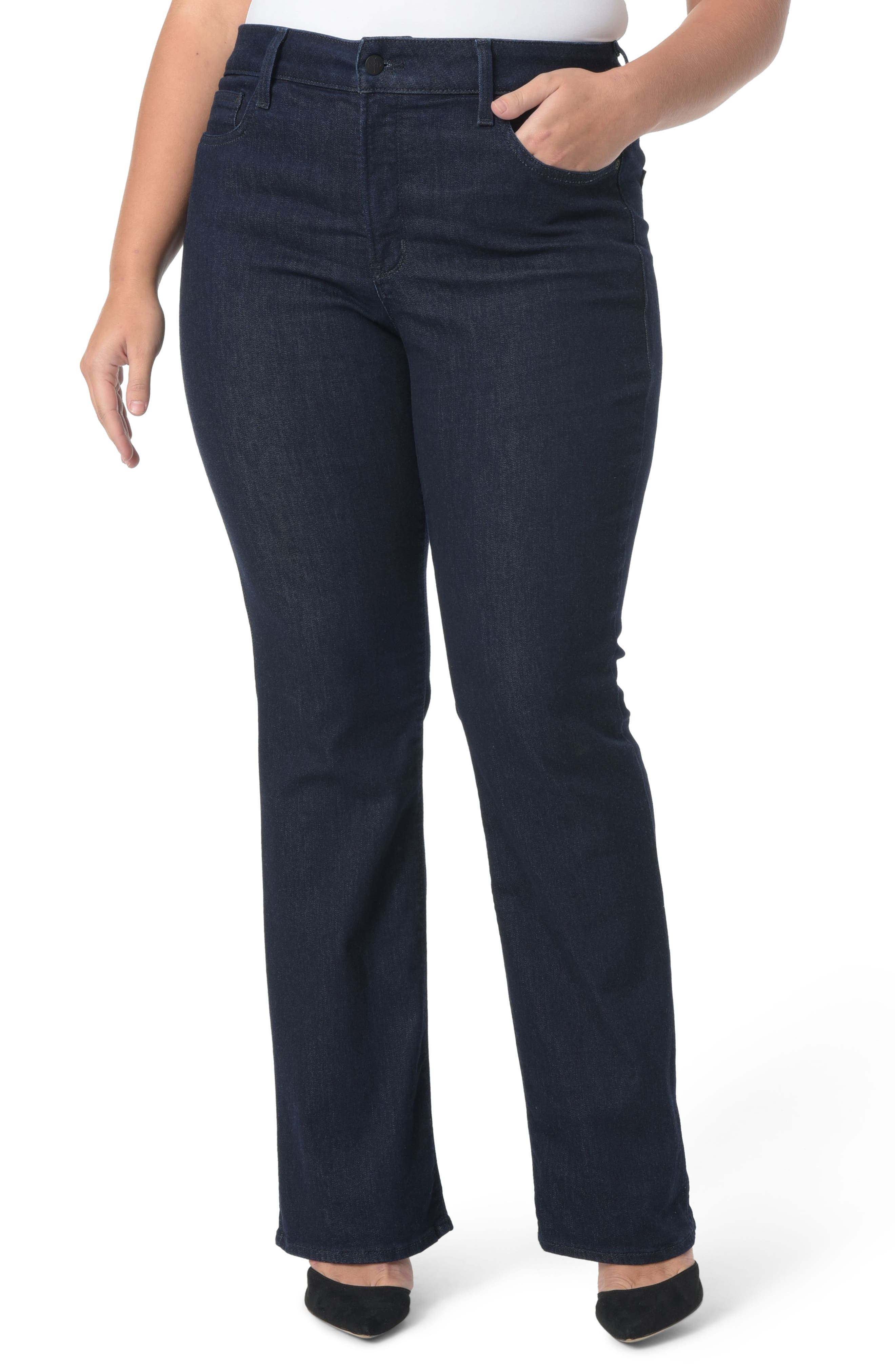 NYDJ, Barbara Stretch Bootcut Jeans, Main thumbnail 1, color, RINSE TONAL STITCH