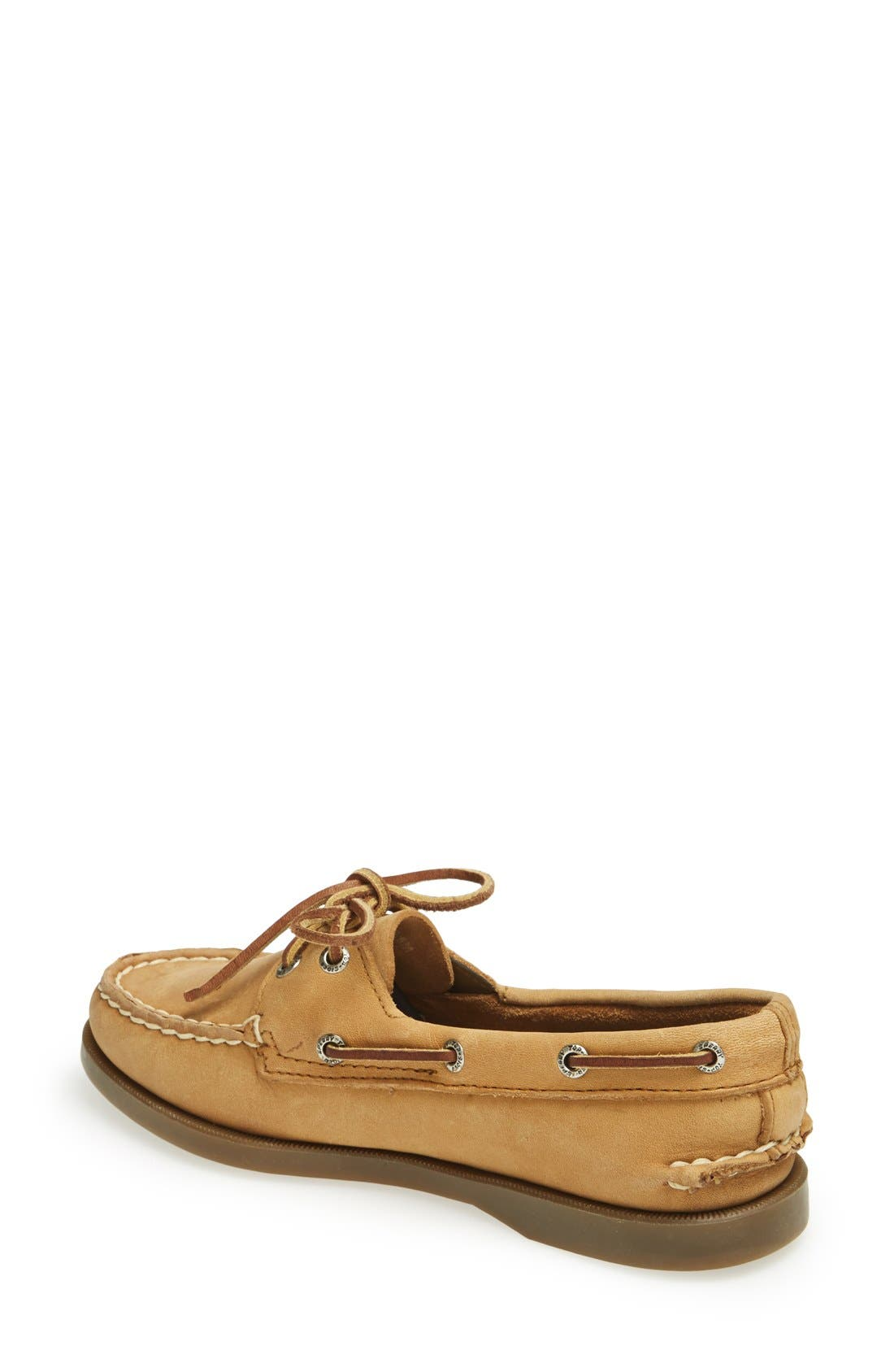 SPERRY, 'Authentic Original' Boat Shoe, Alternate thumbnail 3, color, NUTMEG/ SAHARA
