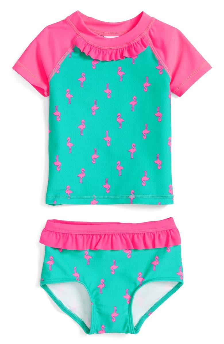 8bcbf232ef Tucker + Tate Two-Piece Rashguard Swimsuit (Baby Girls) | Nordstrom