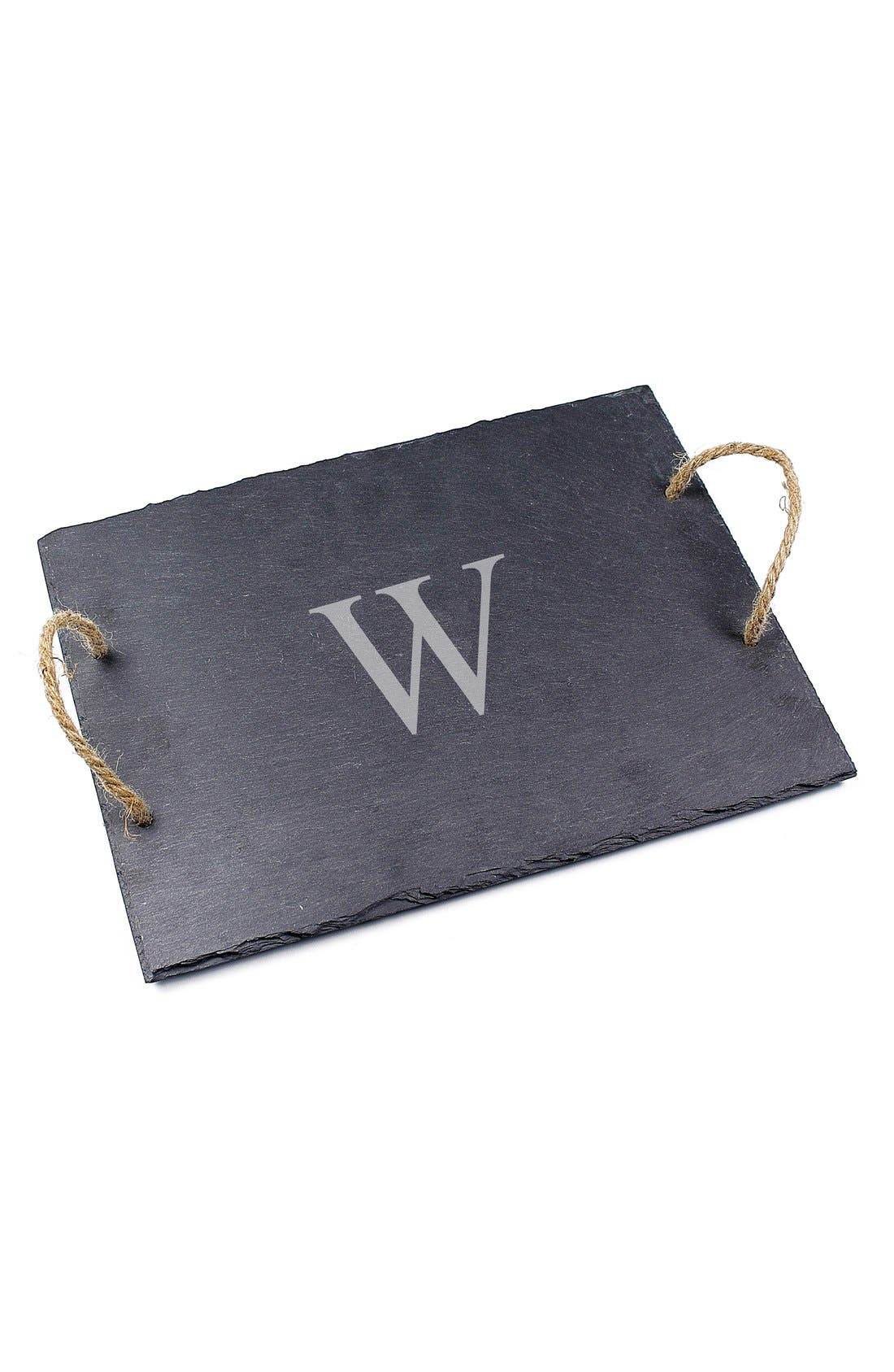 CATHY'S CONCEPTS, Monogram Slate Serving Board, Alternate thumbnail 2, color, W