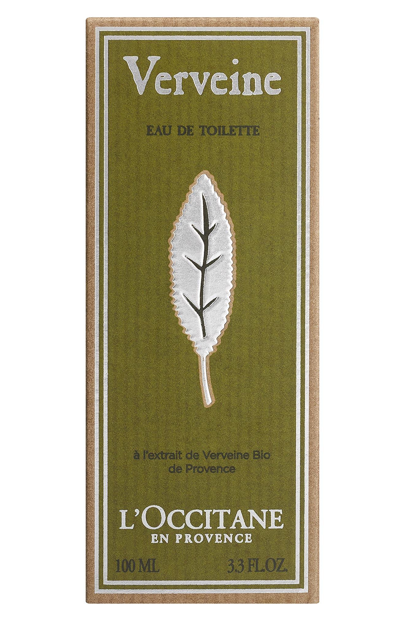 L'OCCITANE, Verbena Eau de Toilette, Alternate thumbnail 2, color, NO COLOR