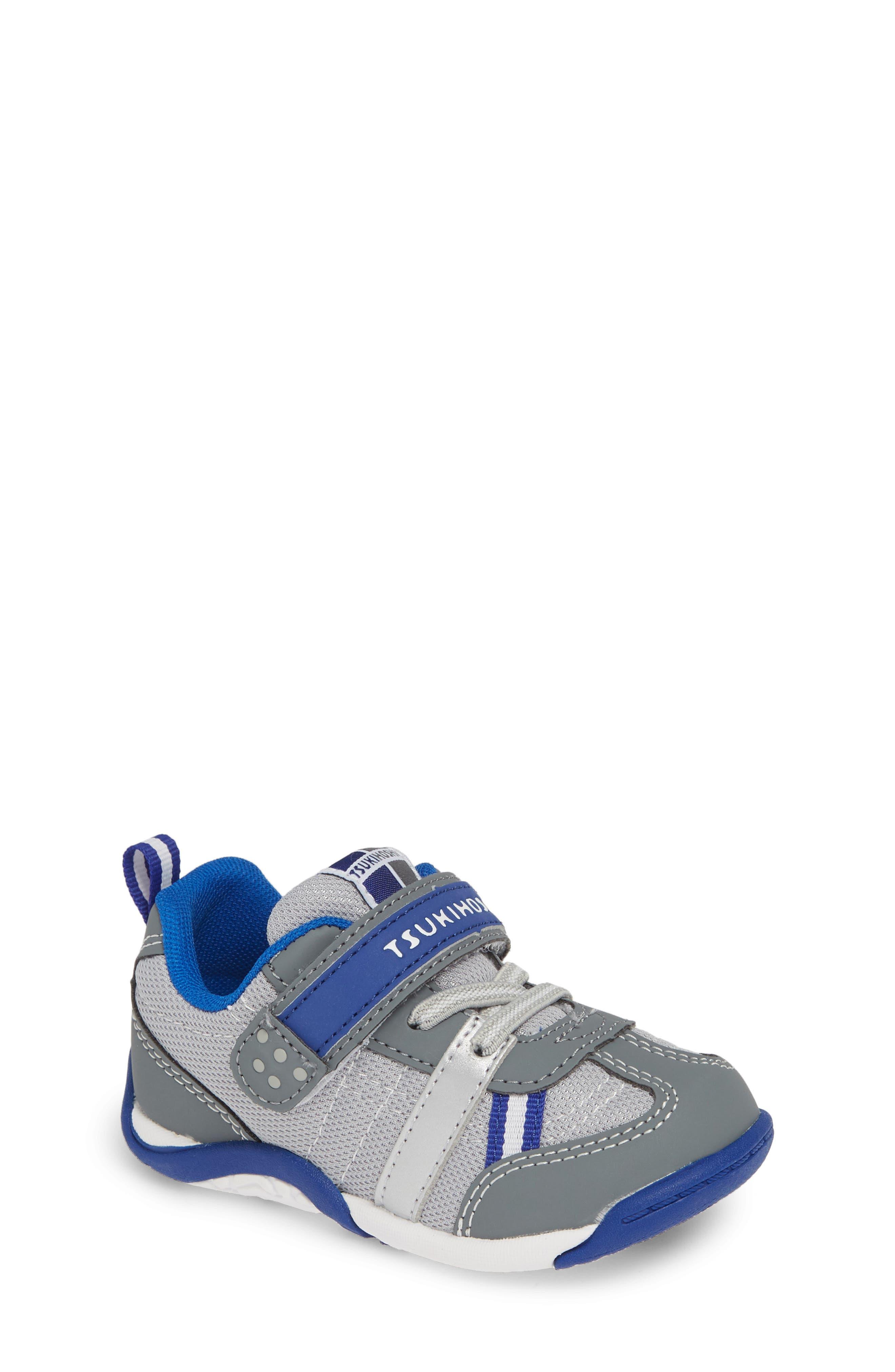 TSUKIHOSHI, Kaz Washable Sneaker, Main thumbnail 1, color, GRAY/ ROYAL