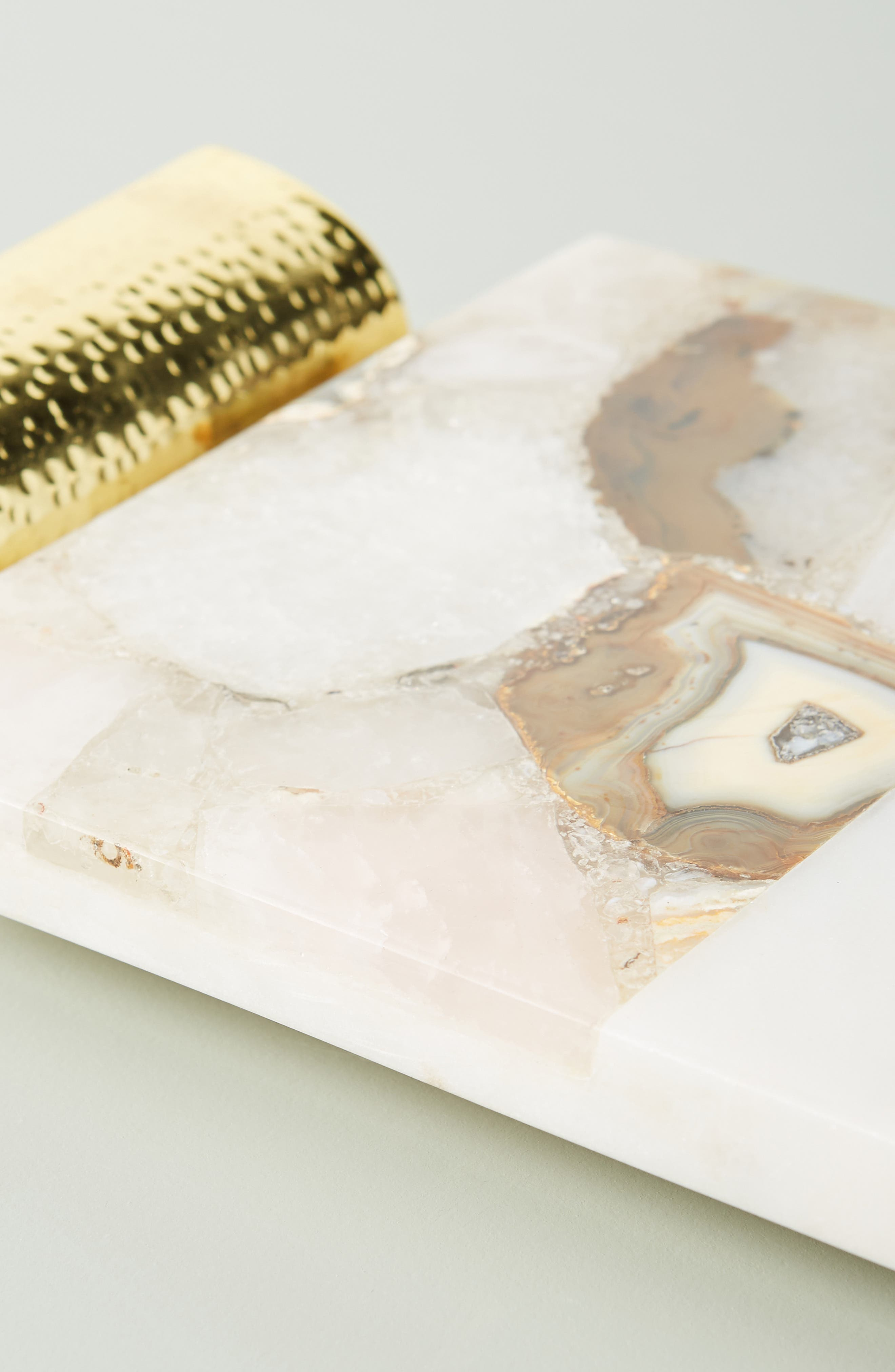ANTHROPOLOGIE, Morgan Agate & Marble Cheese Board, Alternate thumbnail 2, color, WHITE