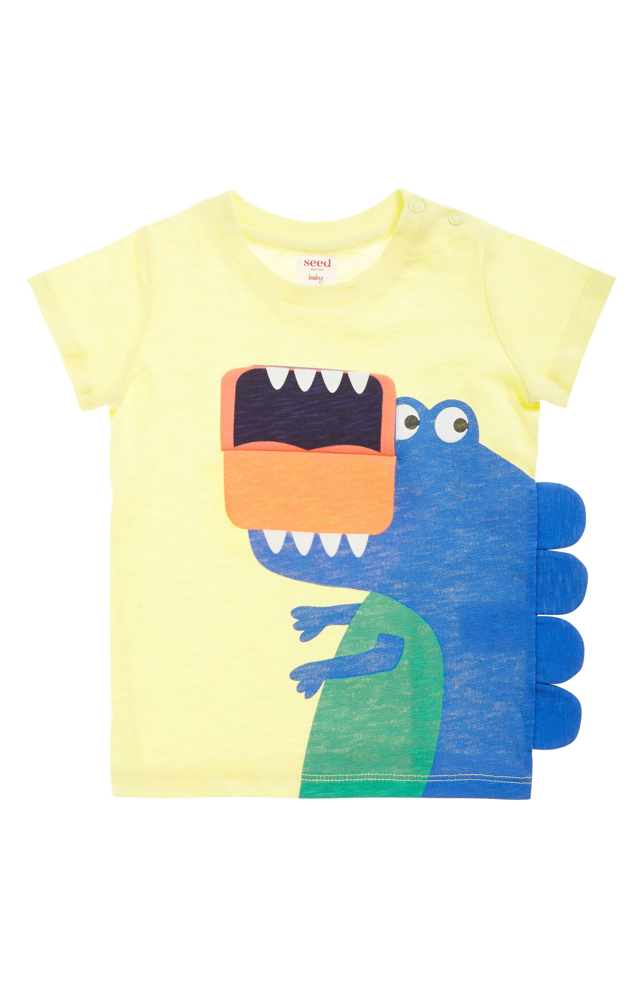 SEED HERITAGE, Dino Flip T-Shirt, Alternate thumbnail 3, color, 700