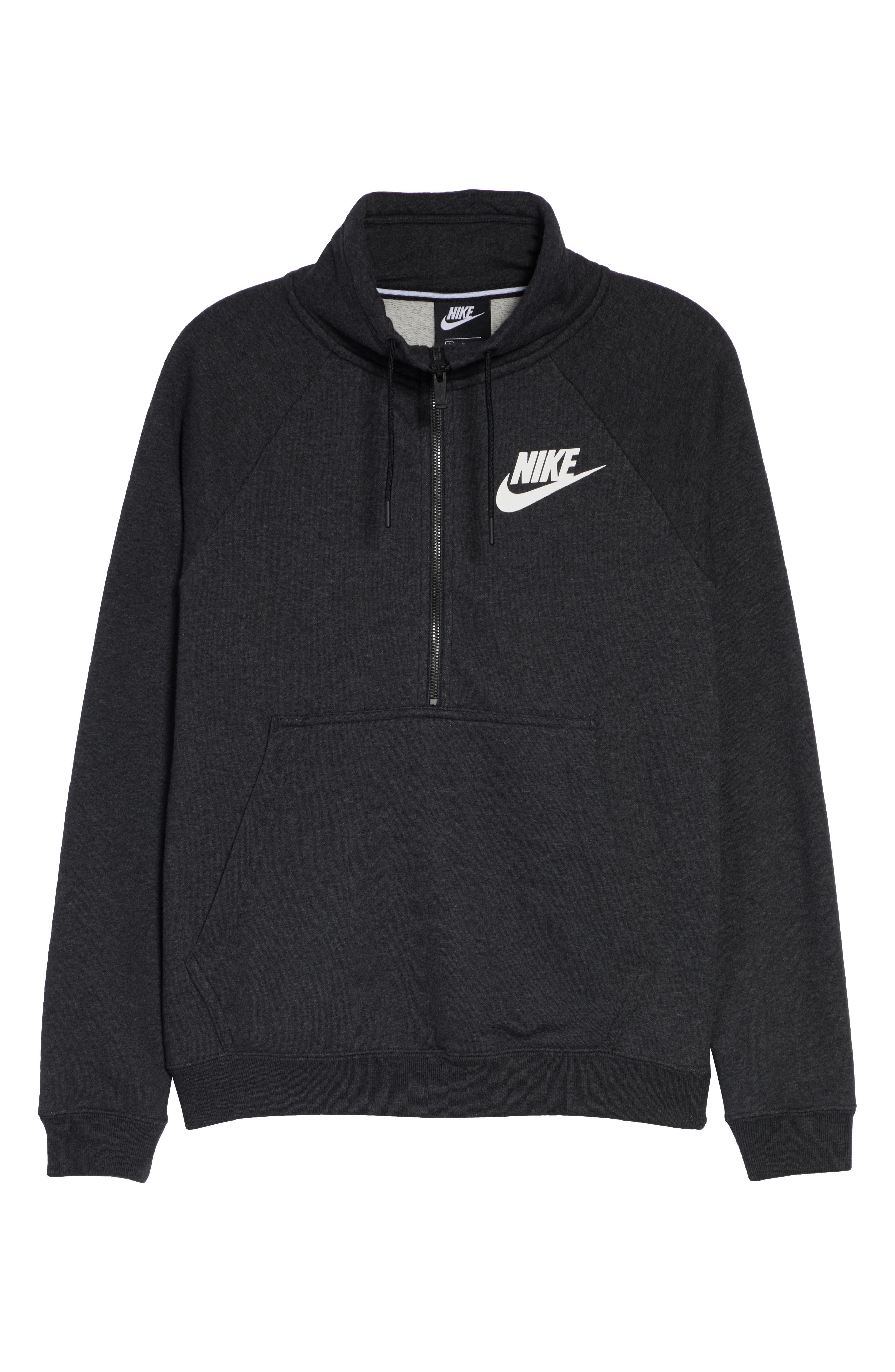 NIKE, NSW Rally Half-Zip Top, Alternate thumbnail 7, color, 002
