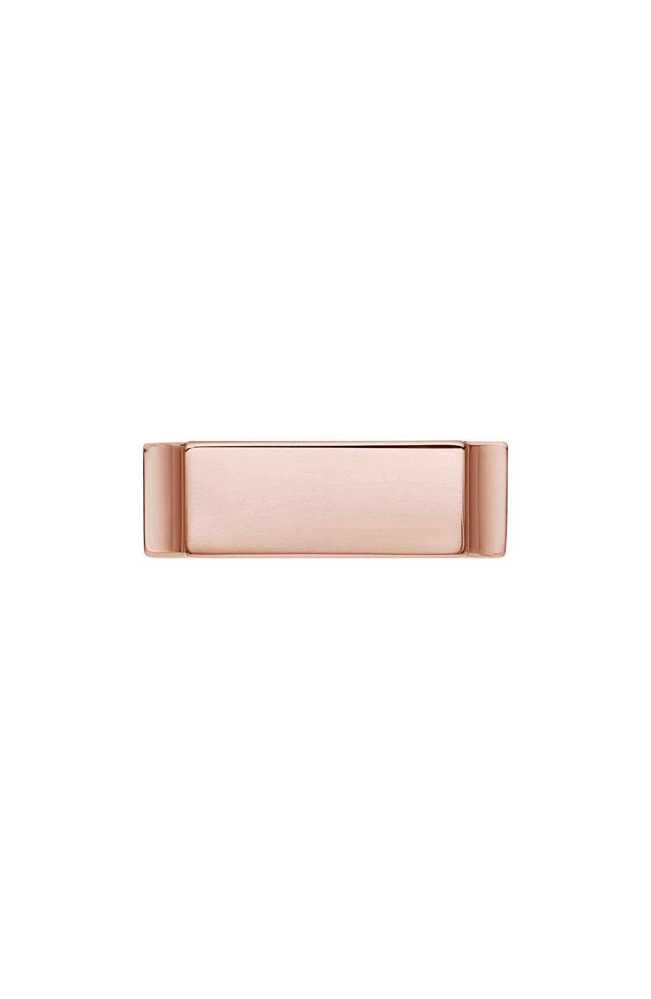 MONICA VINADER, Engravable Wide Signature Ring, Main thumbnail 1, color, ROSE GOLD
