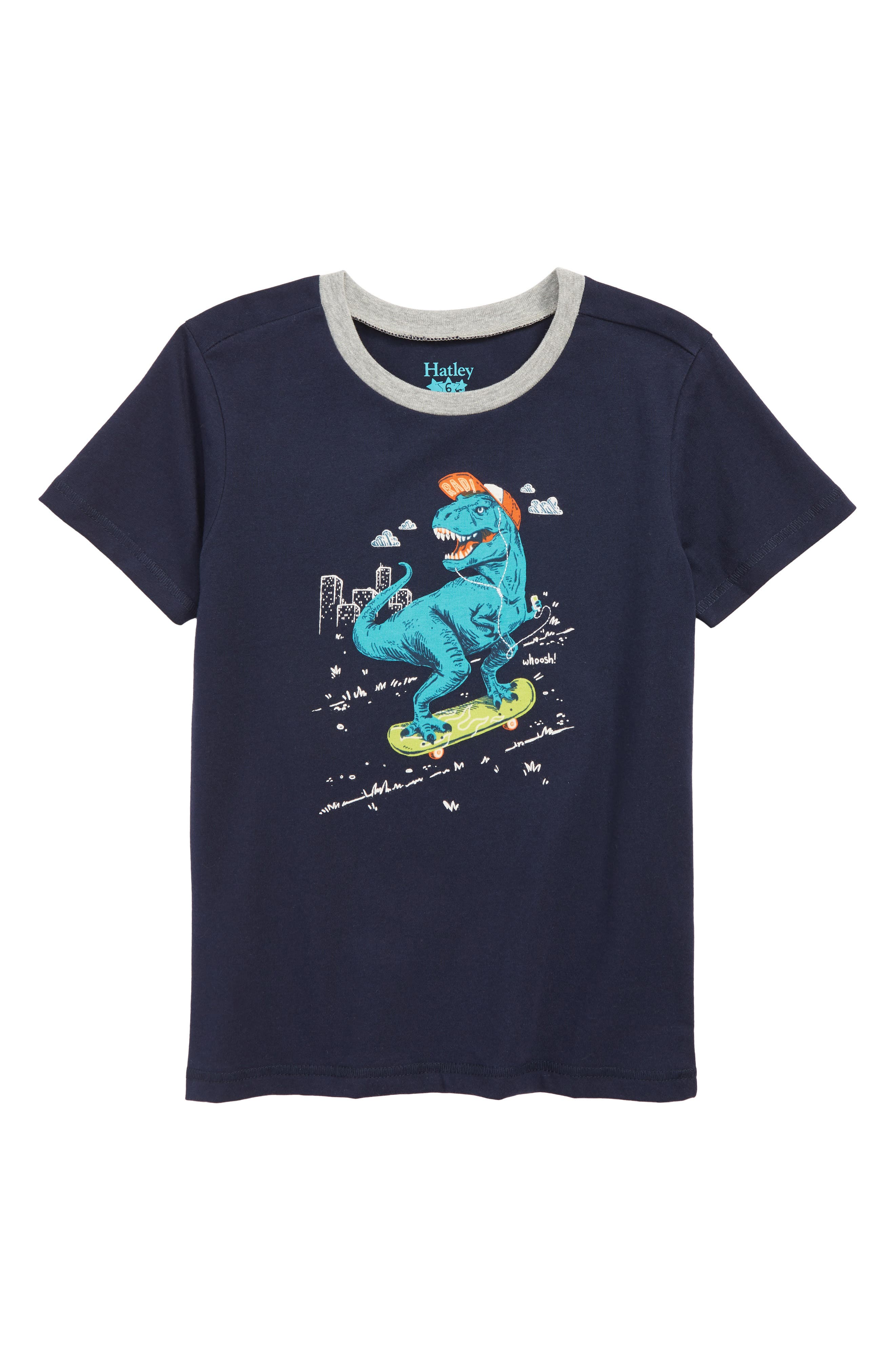 HATLEY, T. Rex Graphic T-Shirt, Main thumbnail 1, color, BLUE