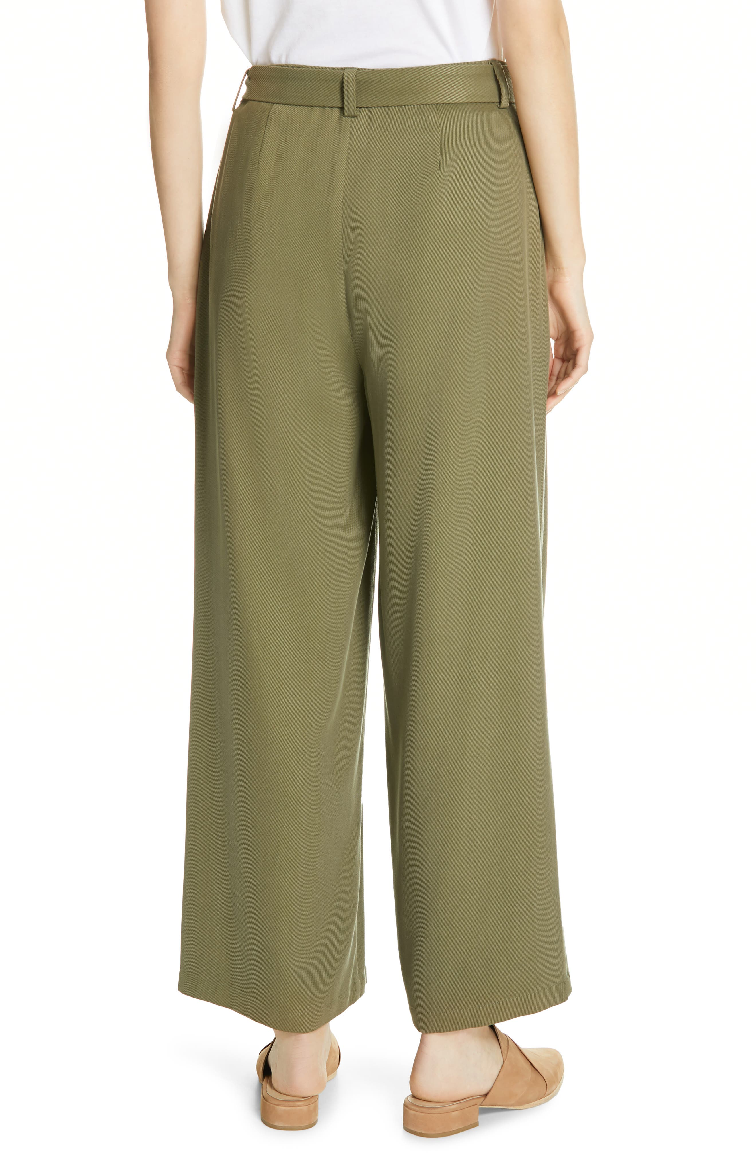 EILEEN FISHER, Belted Wide Leg Pants, Alternate thumbnail 2, color, 301