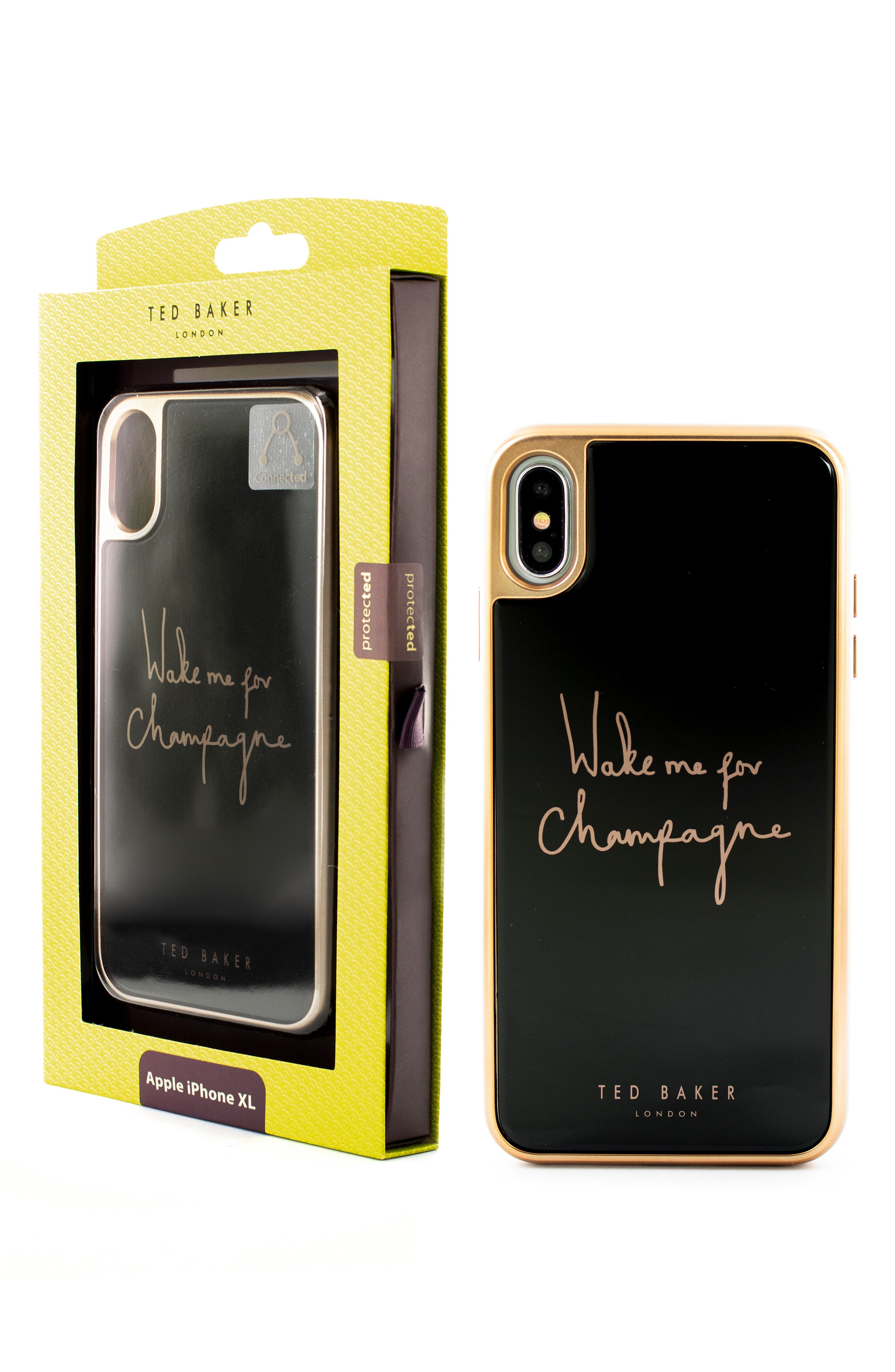 TED BAKER LONDON, Champagne iPhone X/Xs/Xs Max & XR Case, Alternate thumbnail 5, color, BLACK