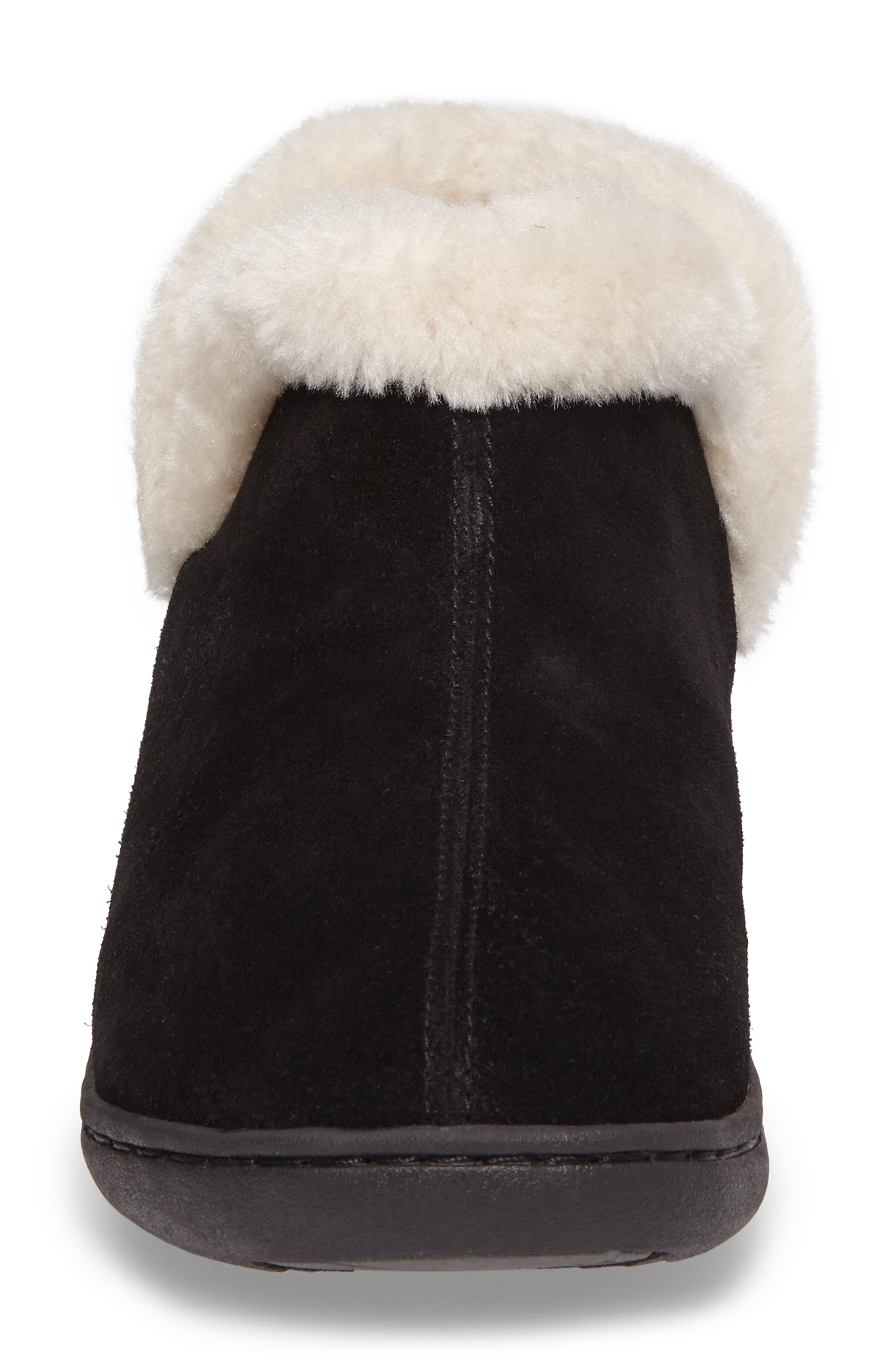 TEMPUR-PEDIC<SUP>®</SUP>, Vallery Bootie Slipper, Alternate thumbnail 4, color, BLACK SUEDE