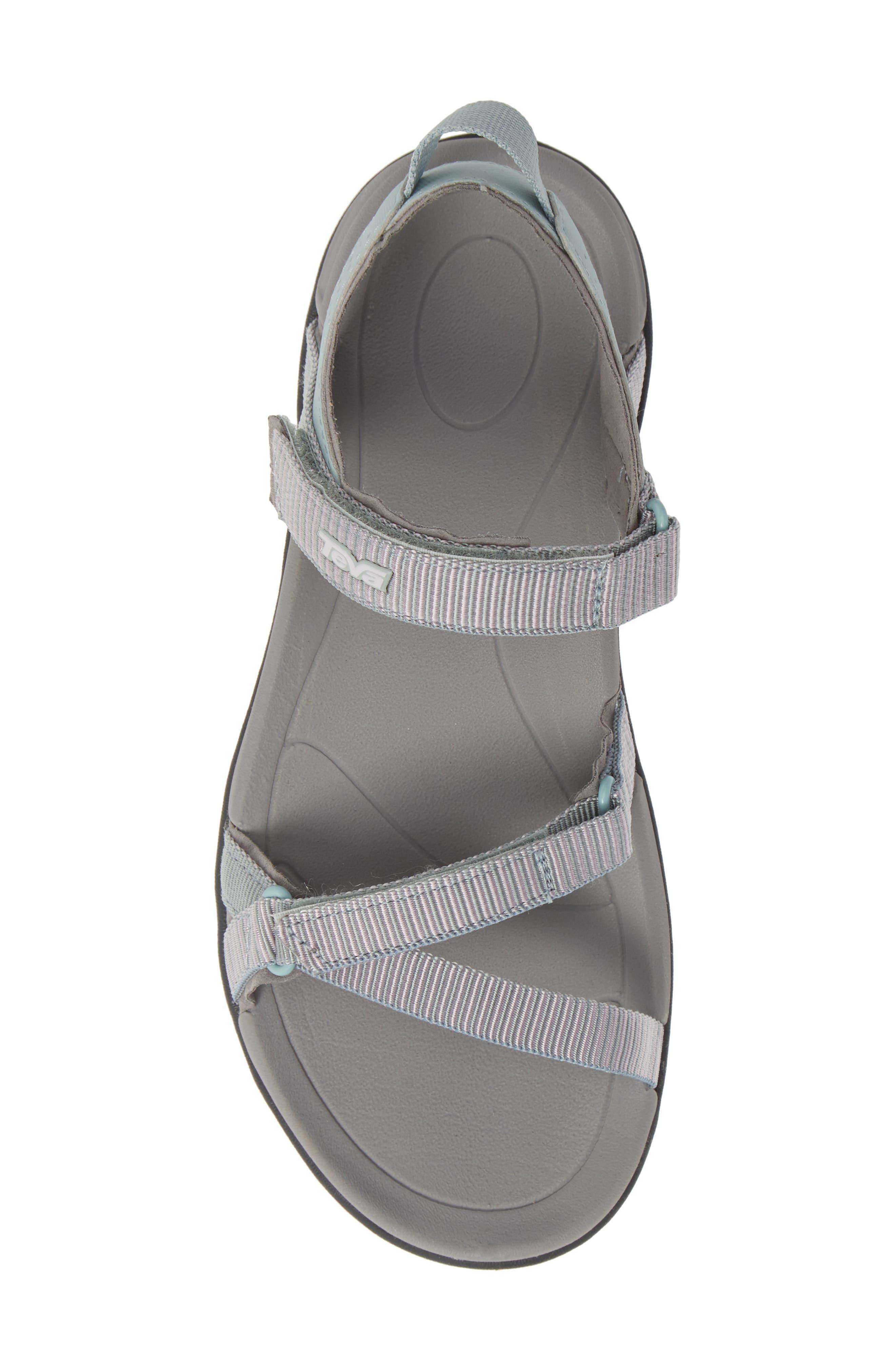 TEVA, 'Verra' Sandal, Alternate thumbnail 5, color, GRAY MIST FABRIC