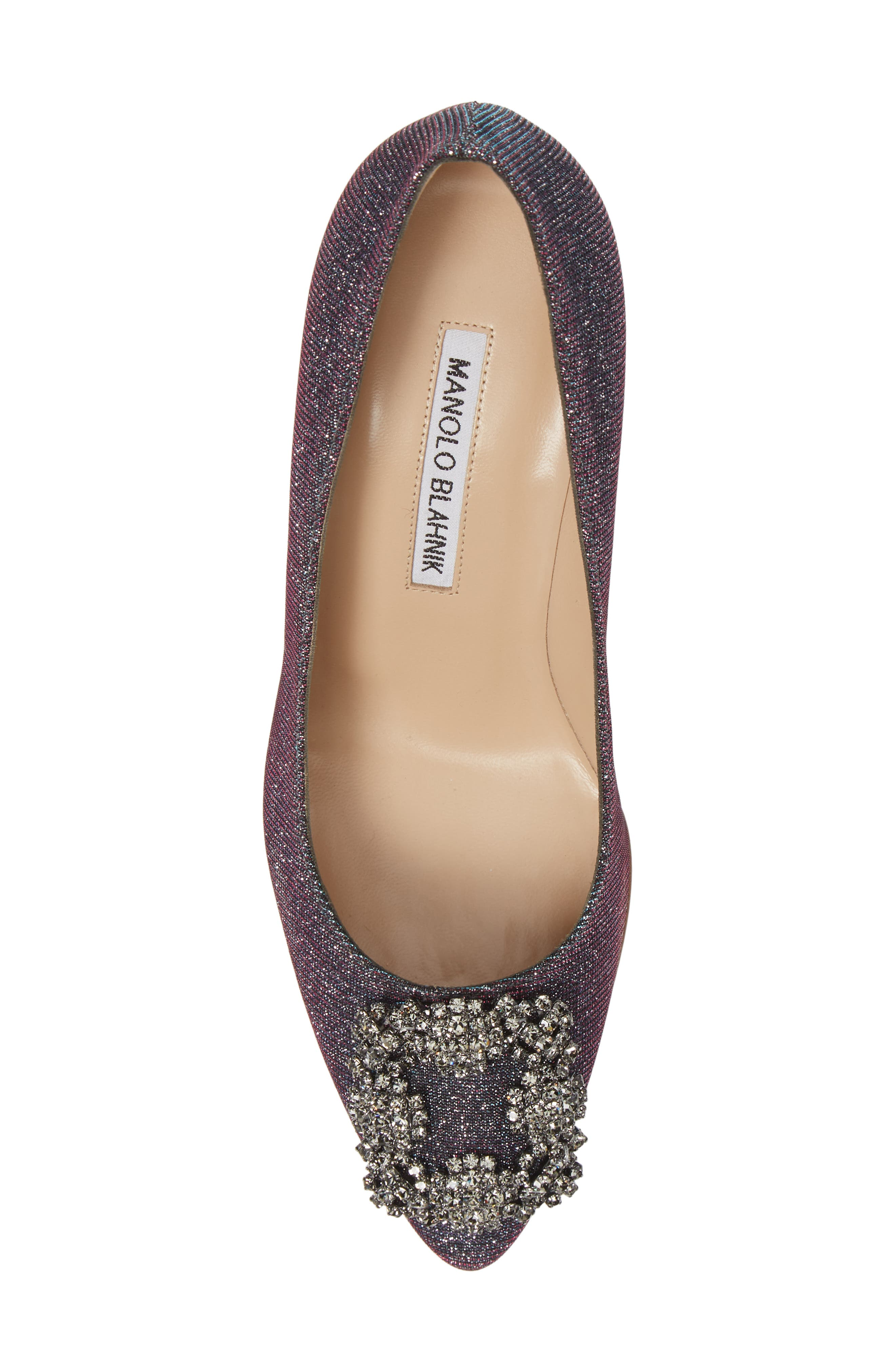 MANOLO BLAHNIK, Hangisi Pump, Alternate thumbnail 5, color, MIDNIGHT BLUE