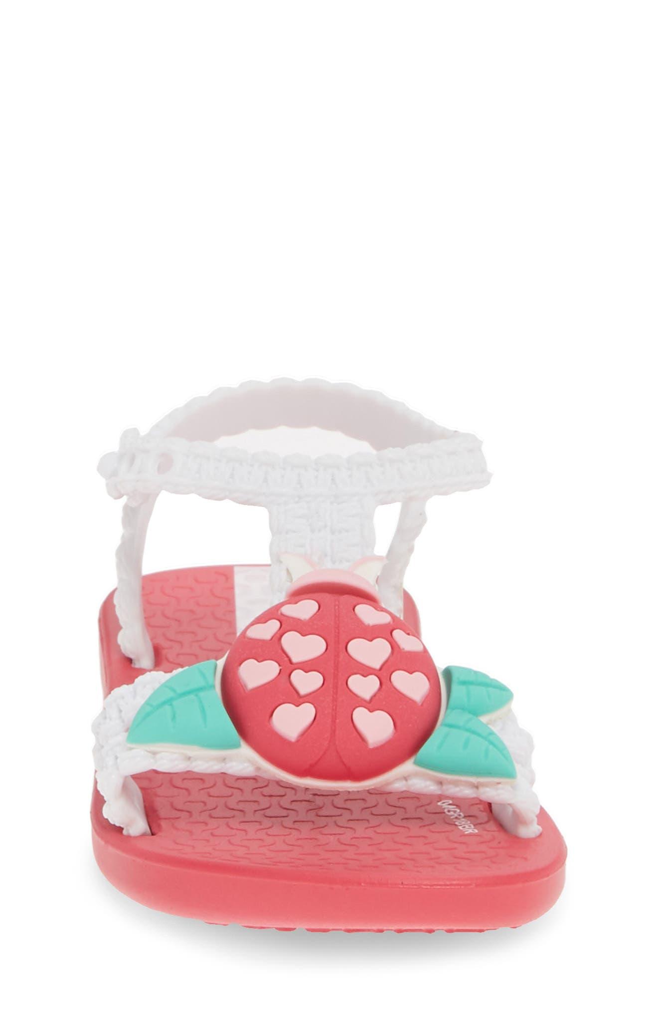 IPANEMA, Buggy Baby Sandal, Alternate thumbnail 4, color, PINK/ WHITE